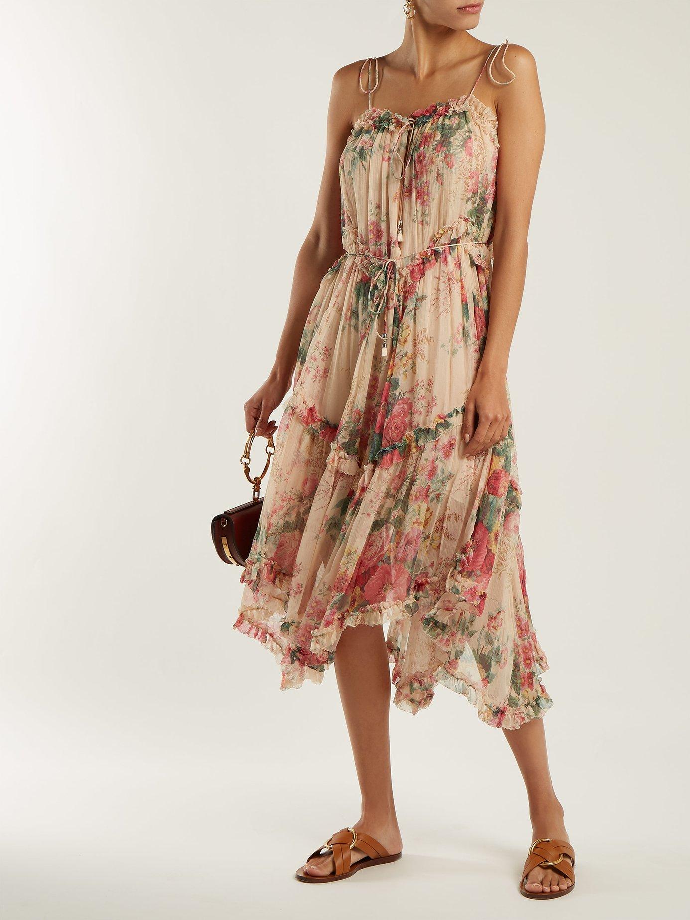 Laelia floral-print silk dress by Zimmermann