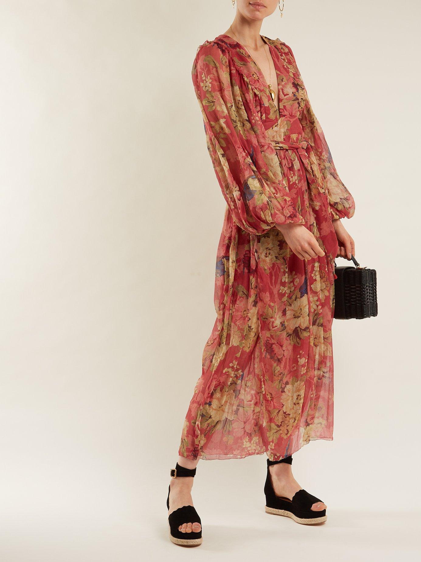 Melody Wrap floral-print silk dress by Zimmermann