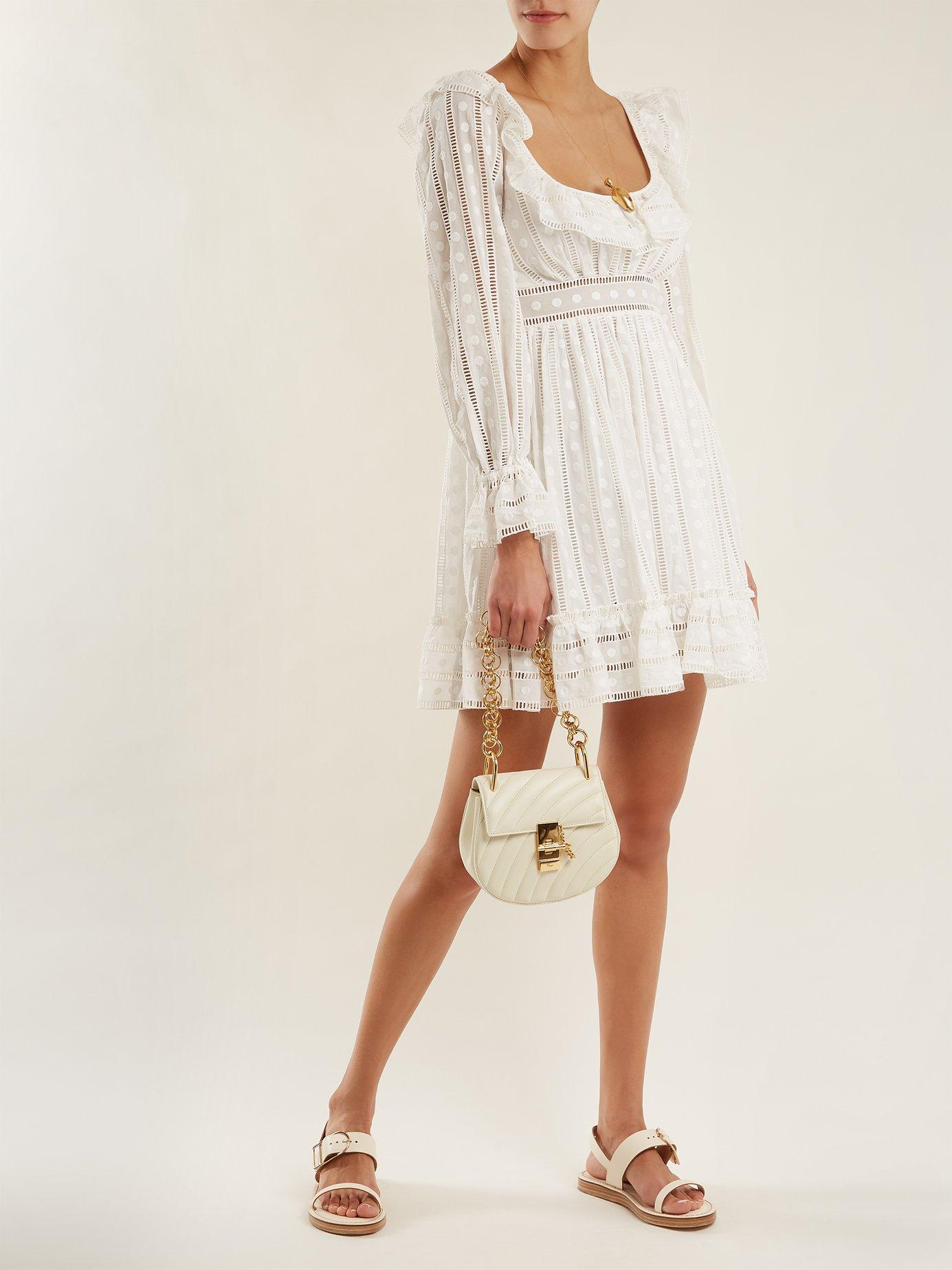 Melody ladder-lace dress by Zimmermann