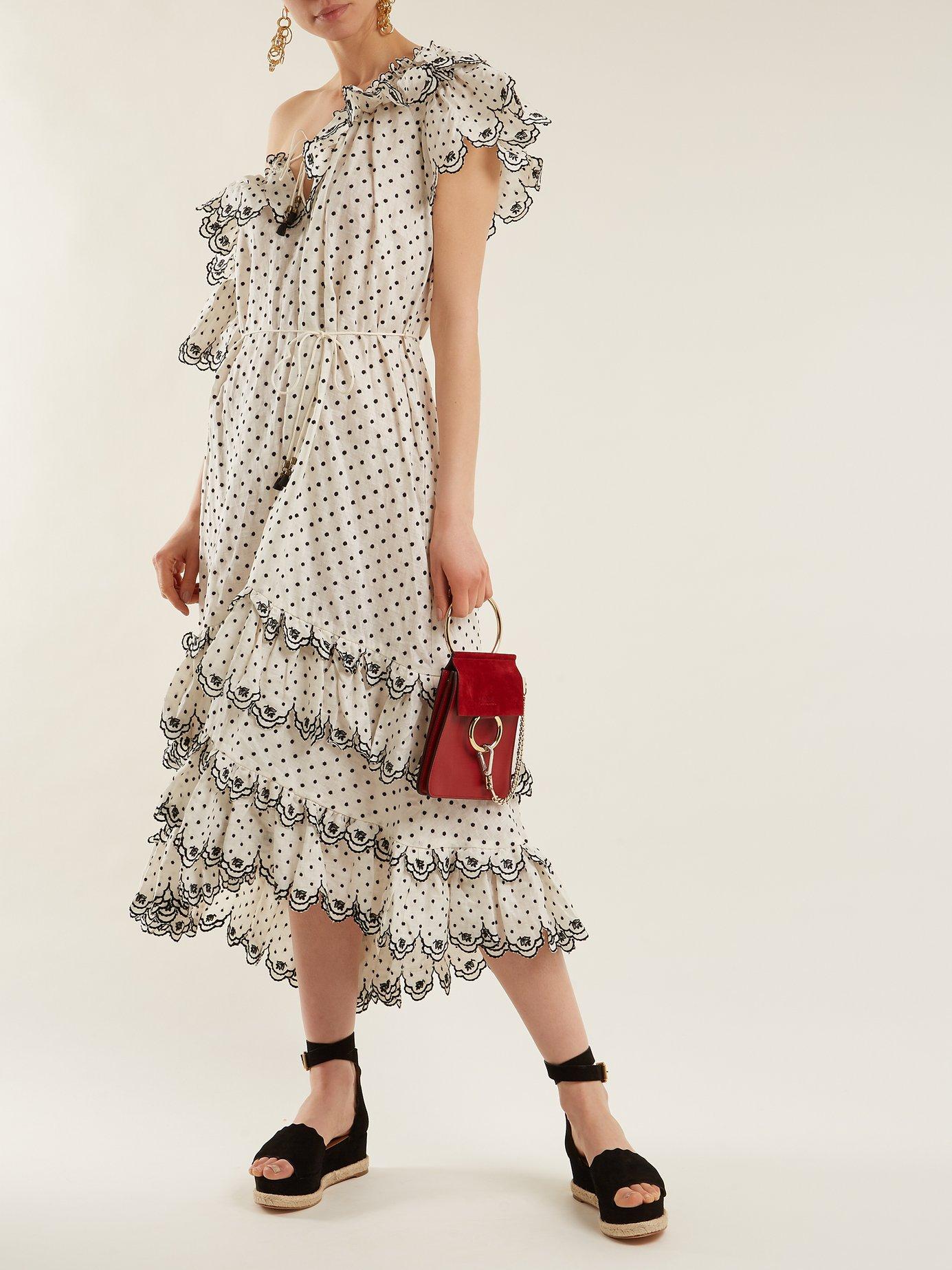Jaya off-the-shoulder linen dress by Zimmermann