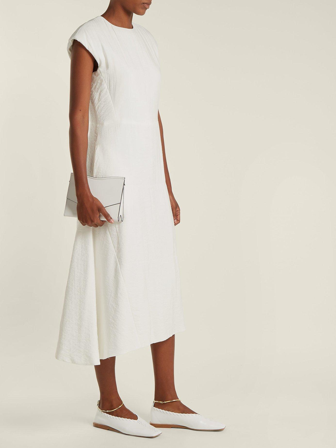 Fioretto silk-blend midi dress by Jil Sander