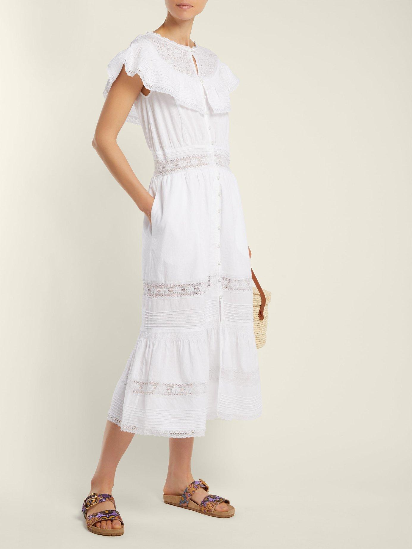 Lace-insert cotton dress by Sea