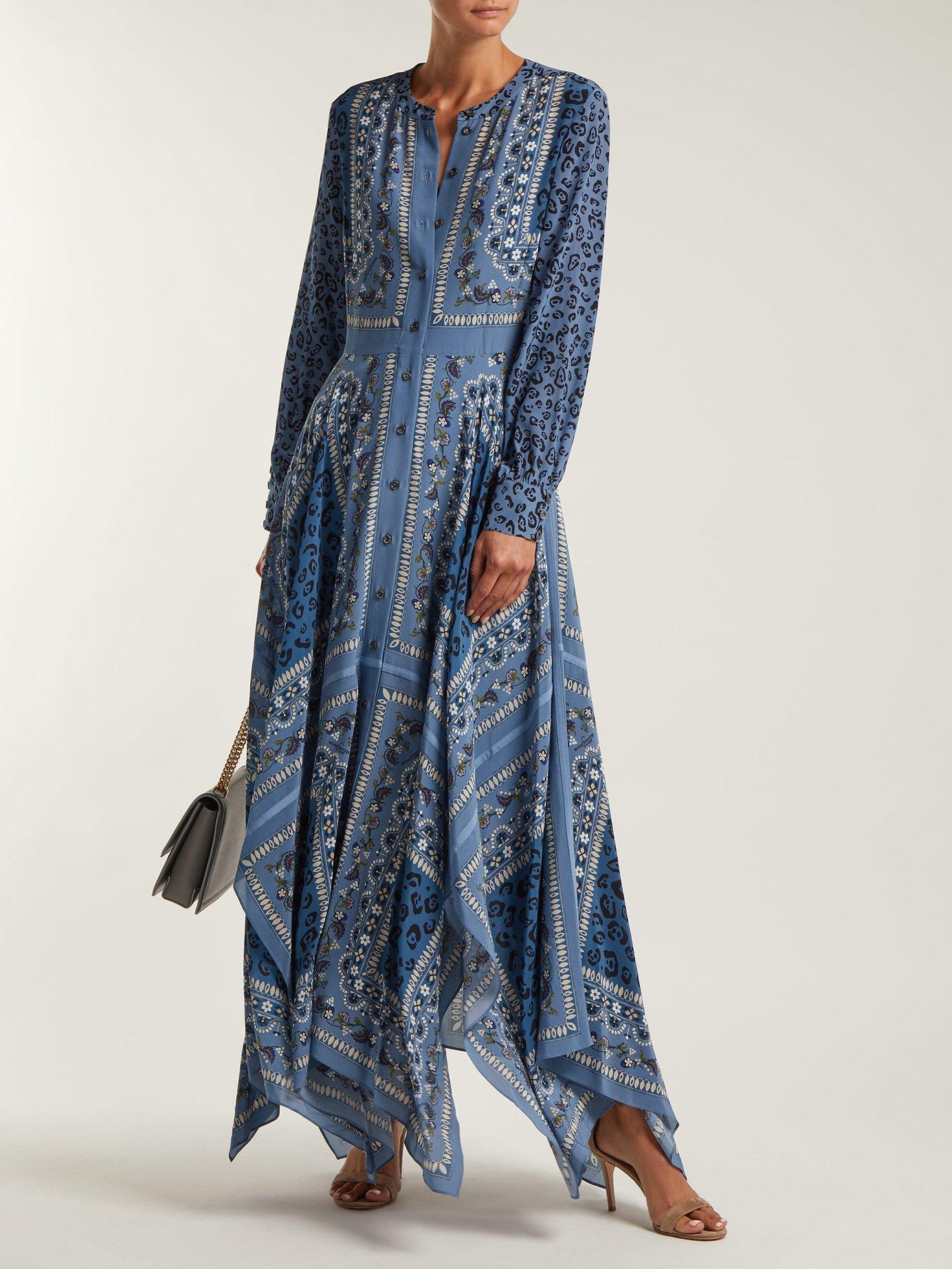 Tamourine scarf-print dress by Altuzarra