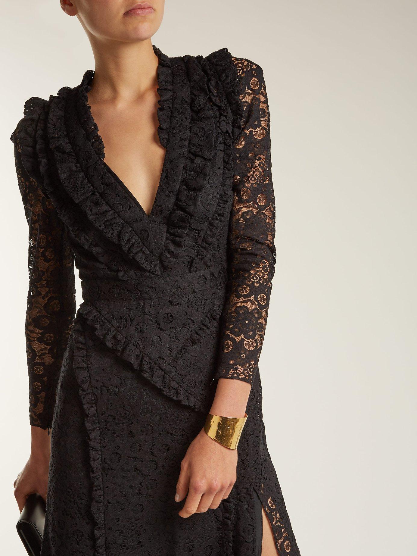 Ourika Valencienne lace ruffle-trimmed dress by Altuzarra
