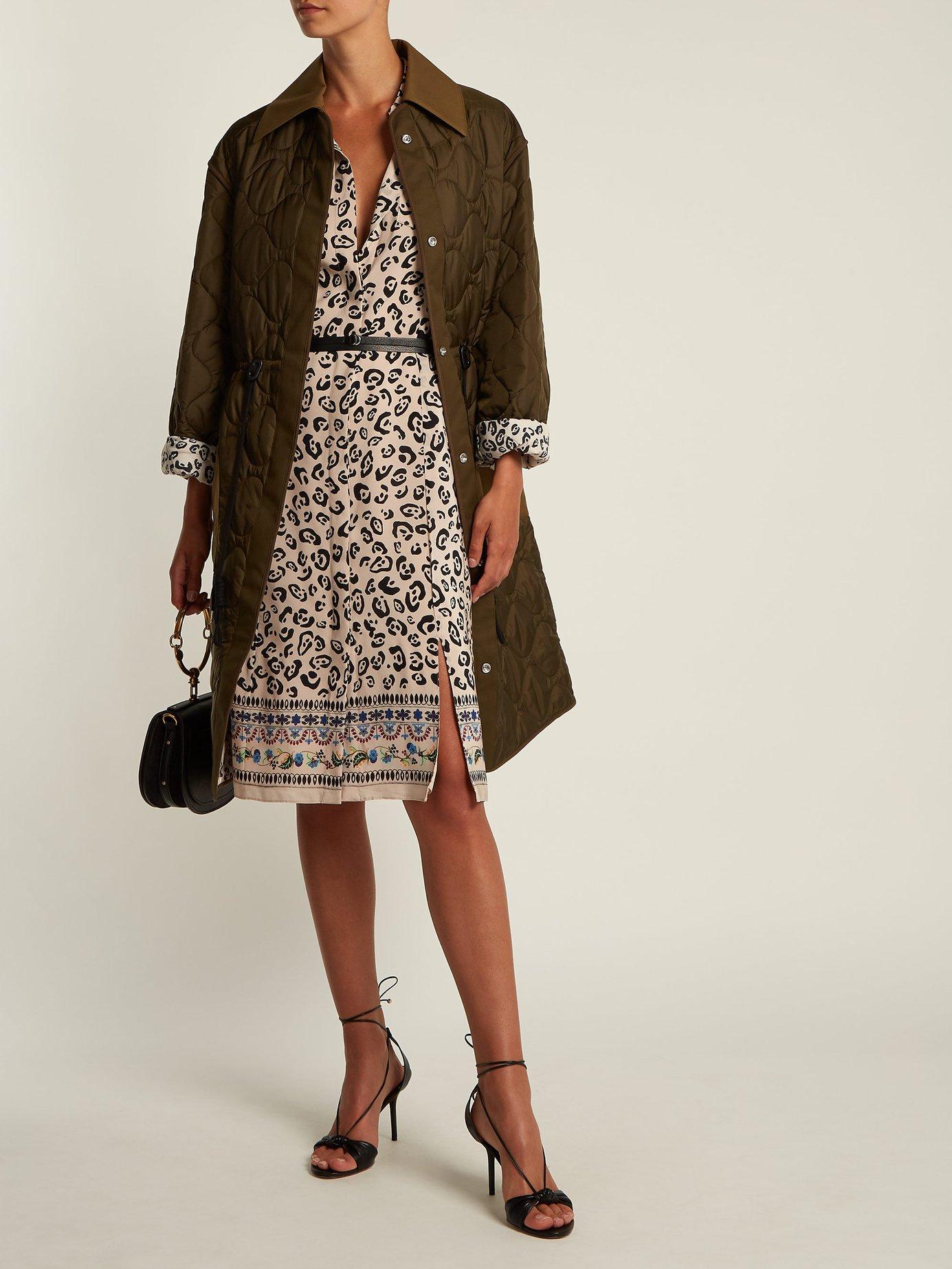 Keiran leopard-print silk shirt dress by Altuzarra