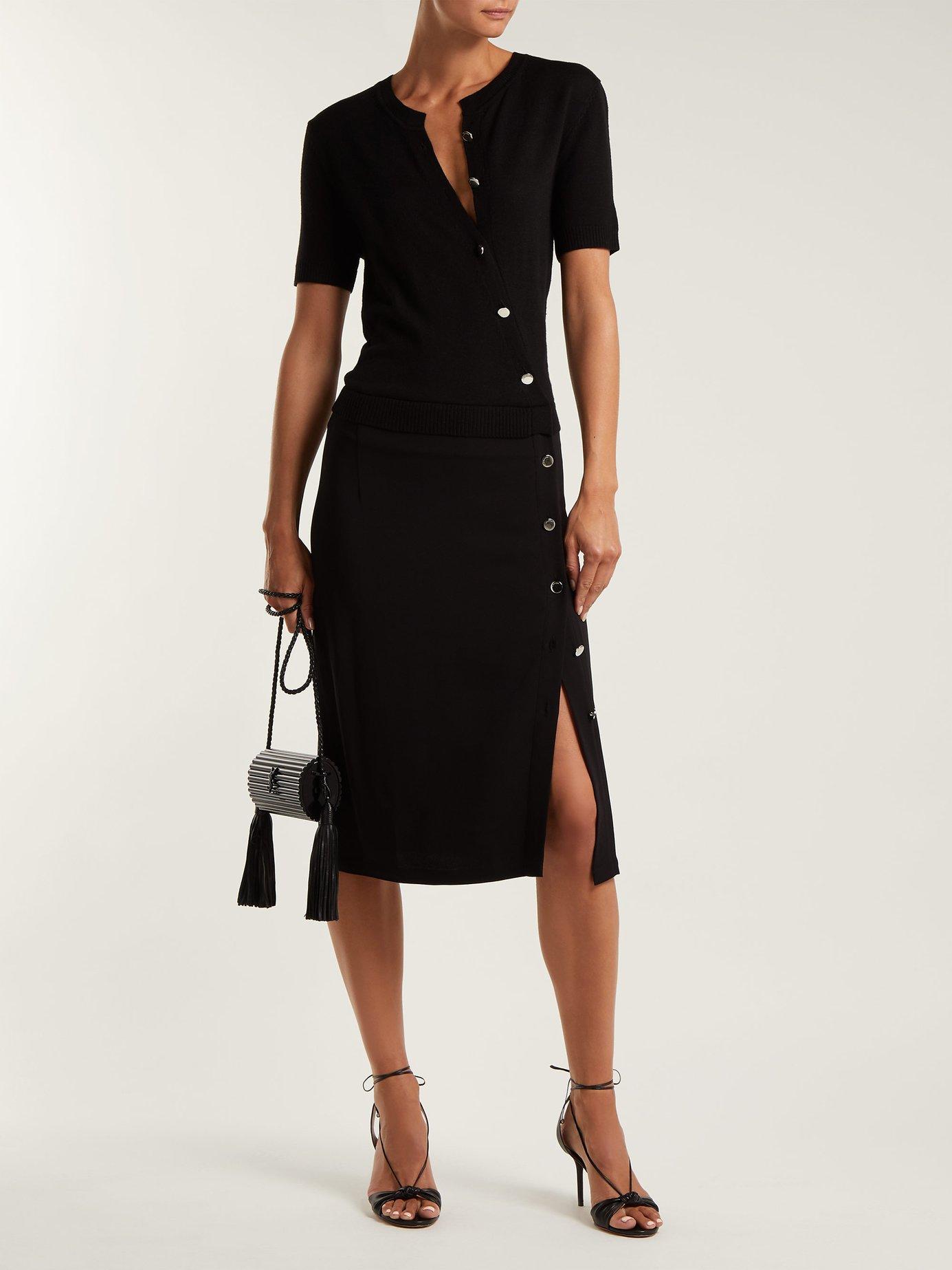 Jefferson asymmetric-buttoned dress by Altuzarra