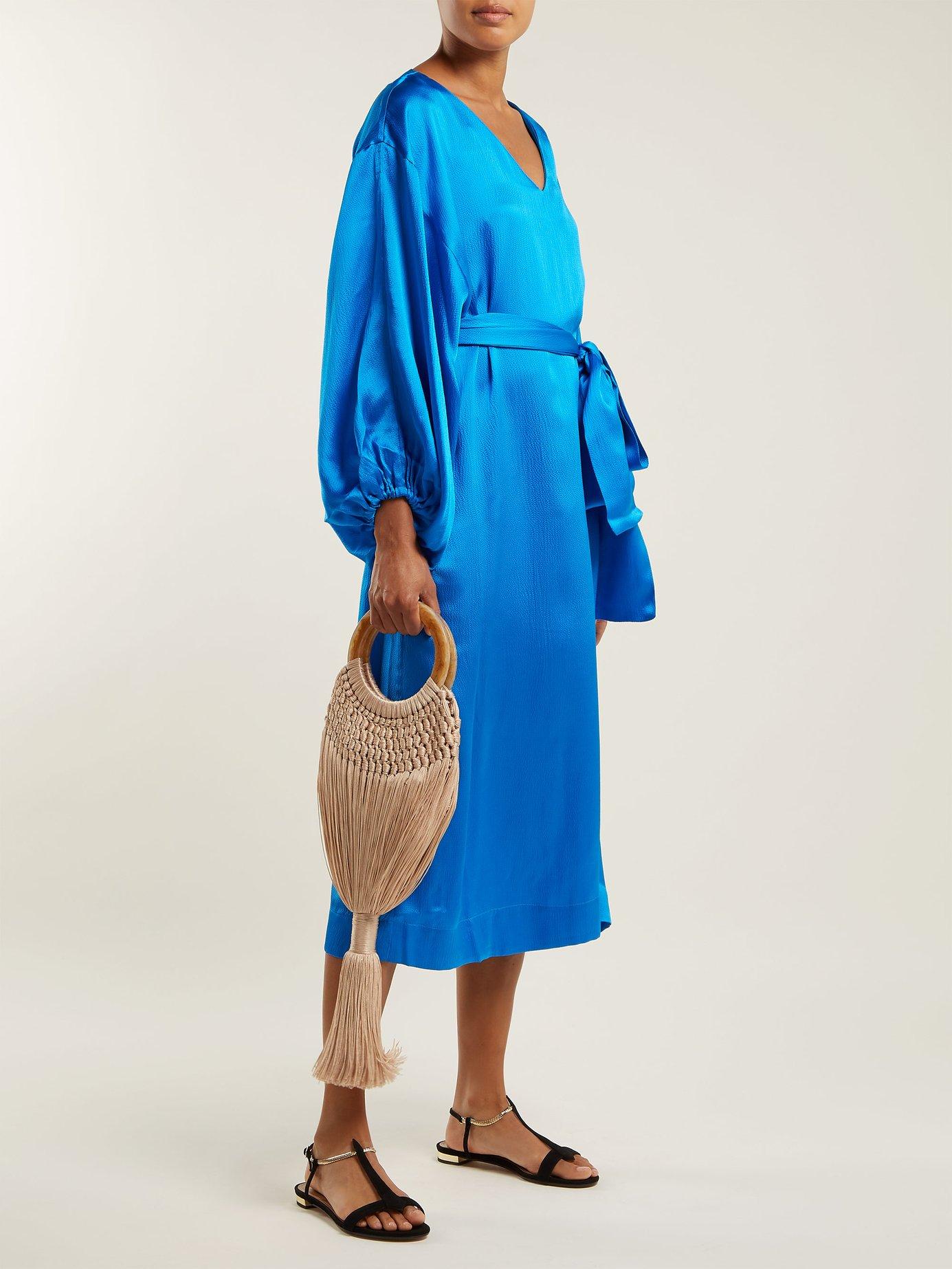 Delilah balloon-sleeved silk dress by Rhode Resort