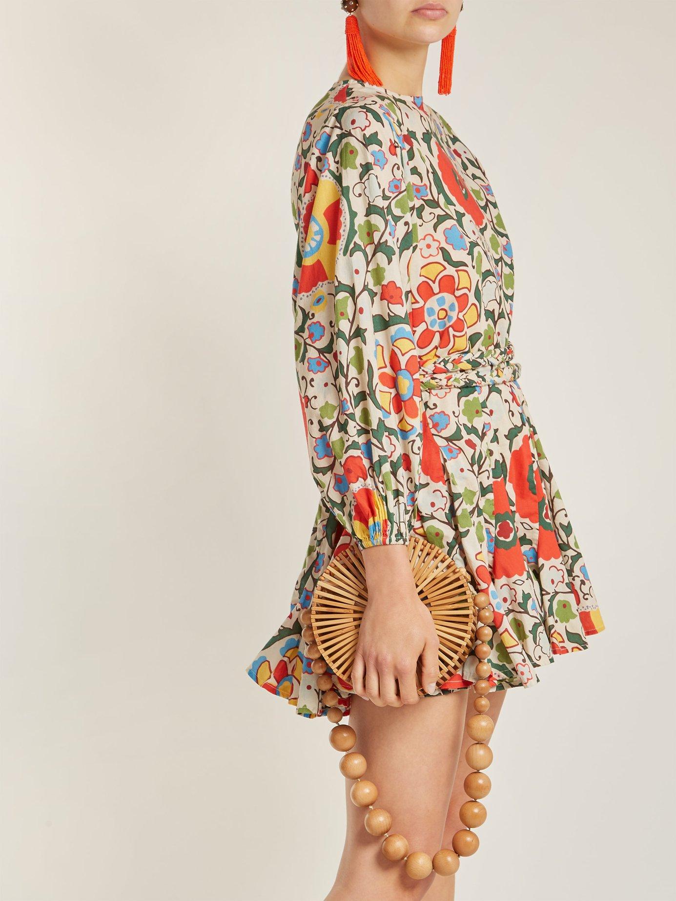 Ella floral-print cotton dress by Rhode Resort