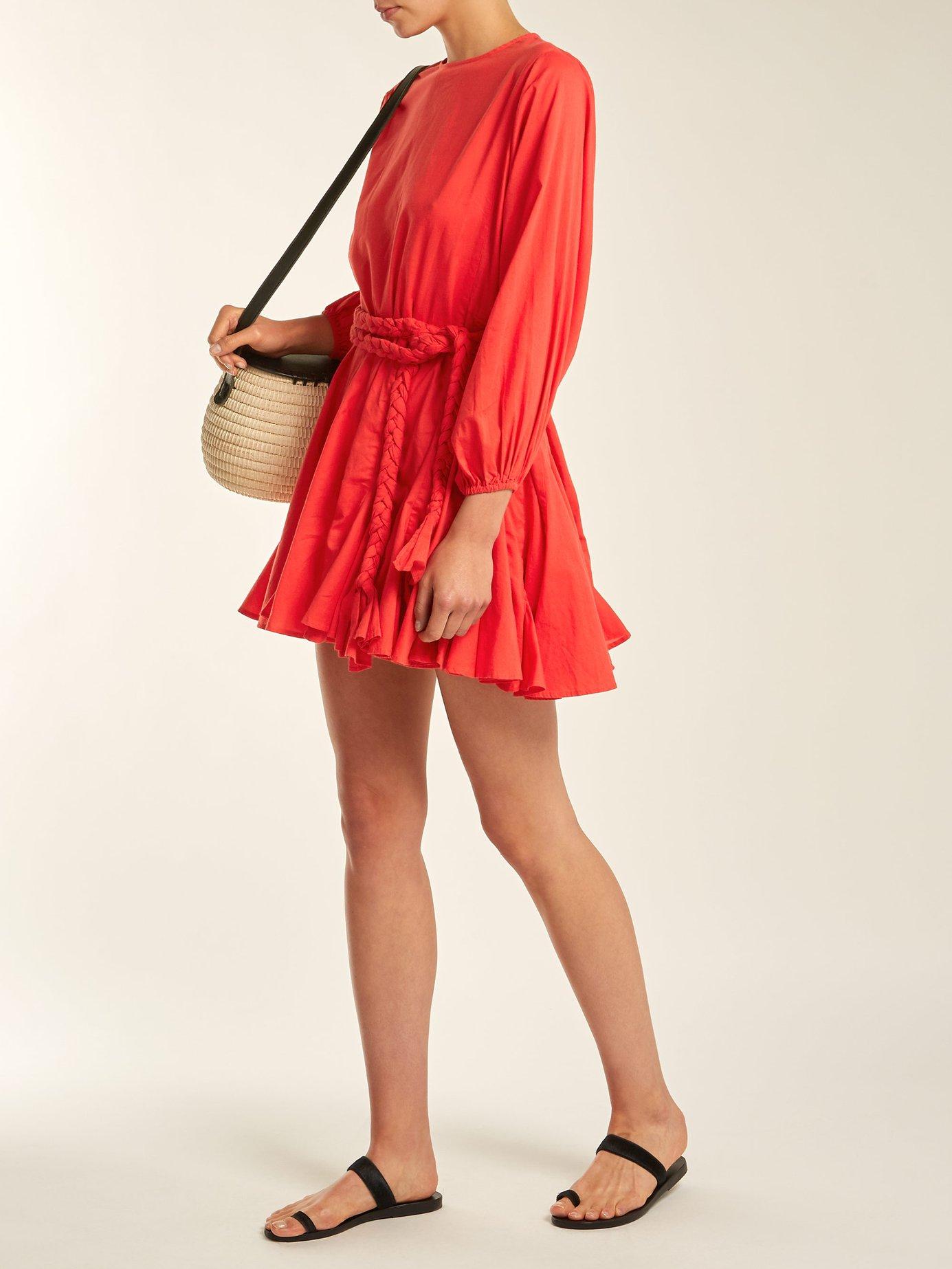 Ella tie-waist cotton dress by Rhode Resort