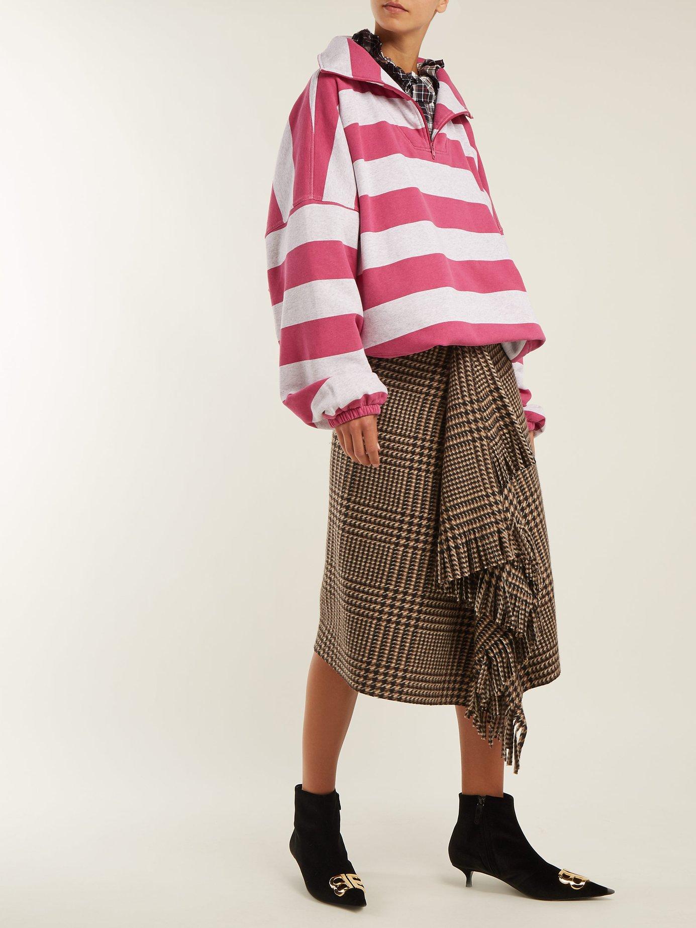 Striped cotton-blend top by Balenciaga