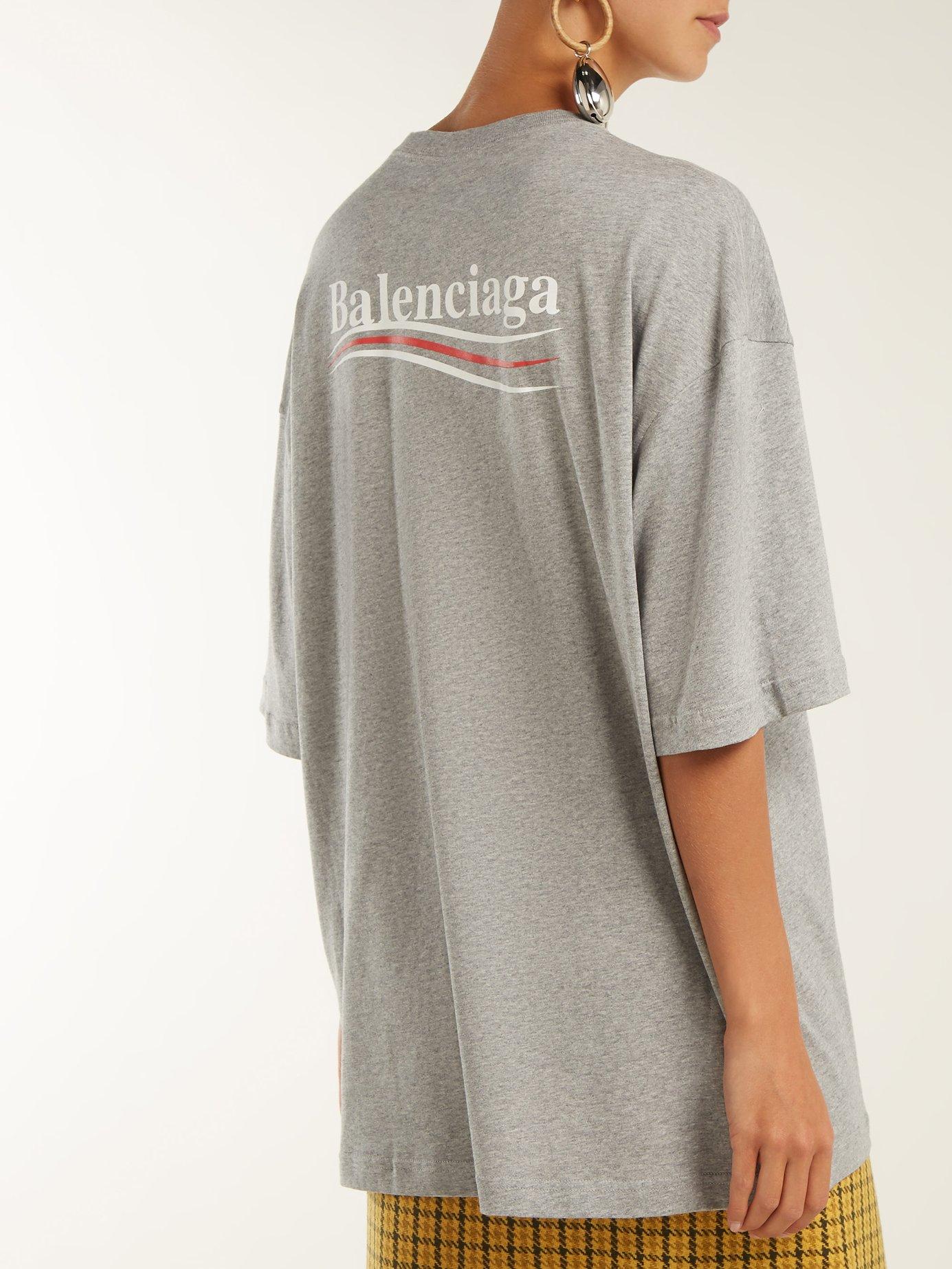 Oversized logo-print stretch cotton-jersey T-shirt by Balenciaga