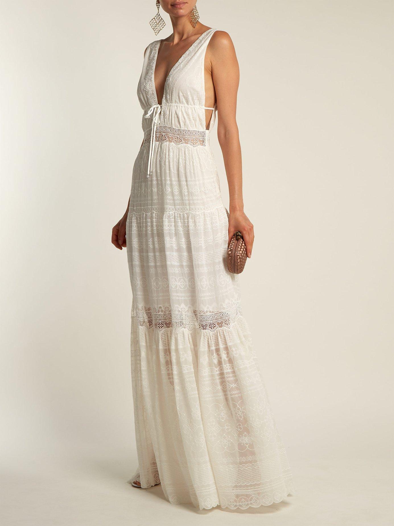 Embroidered-lace silk dress by Jonathan Simkhai