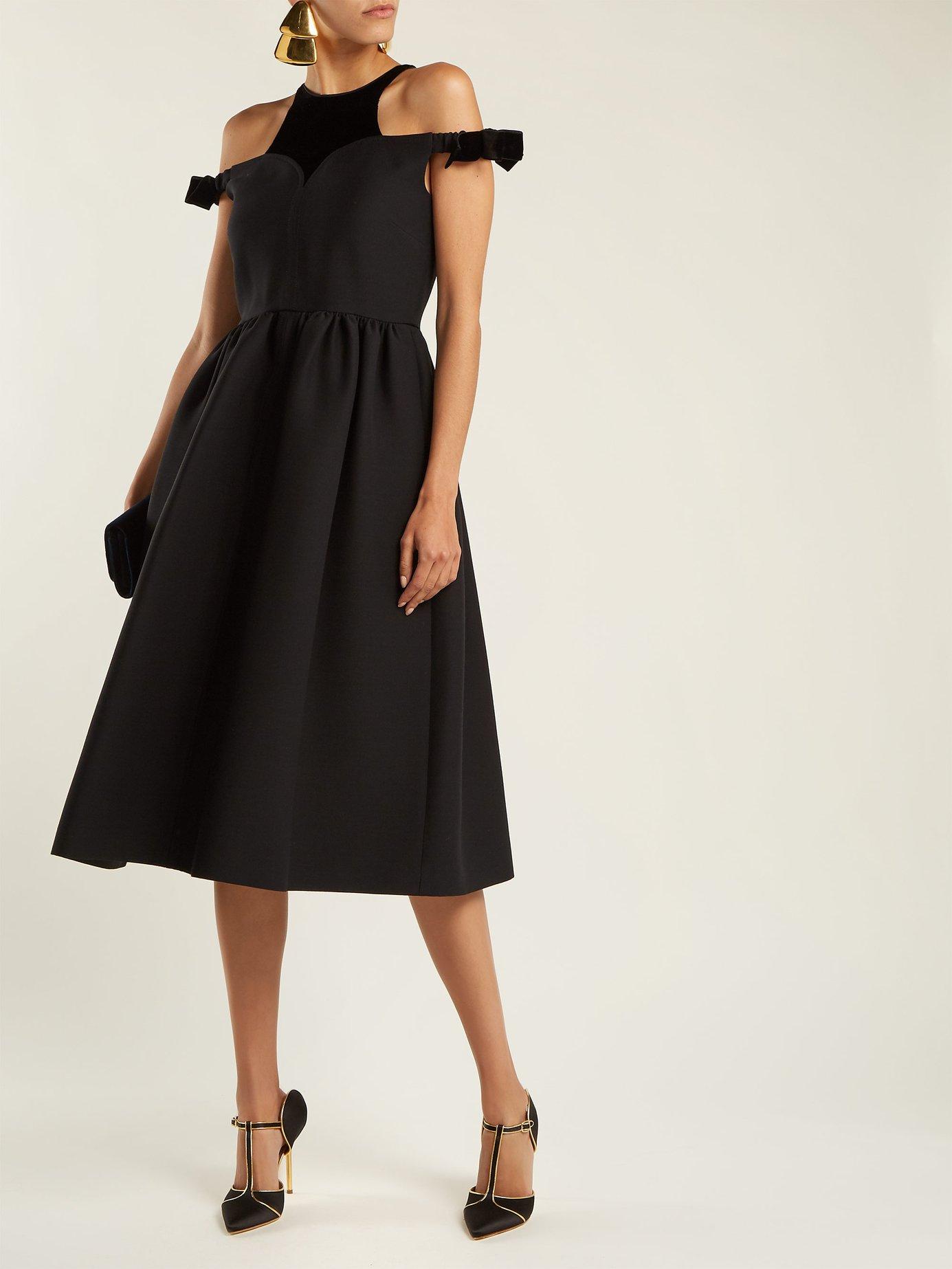 Bambolina wool-blend dress by Fendi