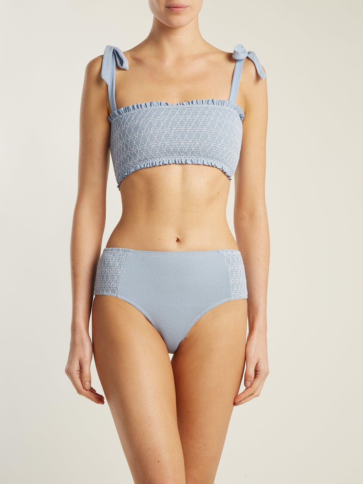 Cassis high-waisted bikini briefs by Heidi Klein