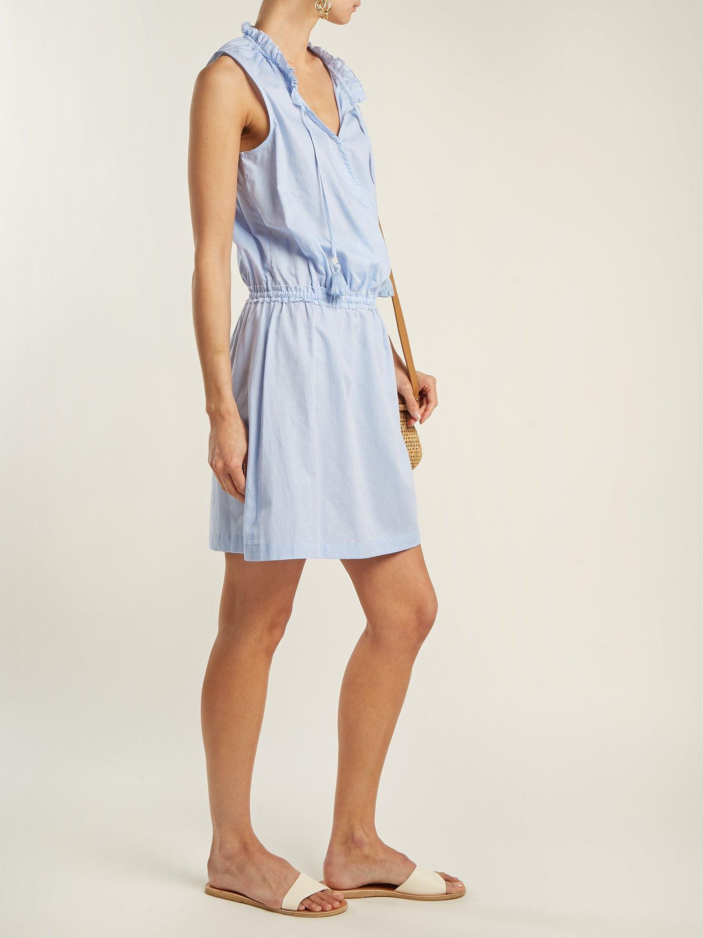 Cassis wrap-front cotton dress by Heidi Klein