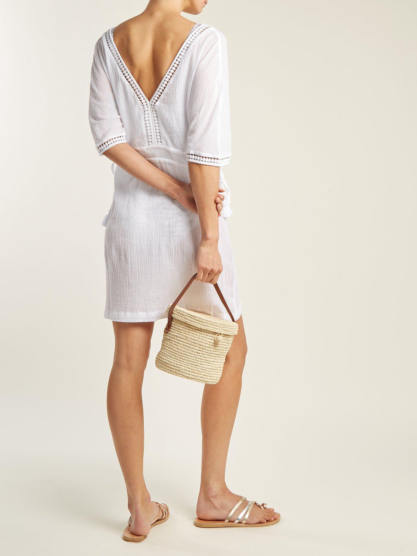 Photo of Moorea lace-trimmed cotton shirtdress by Heidi Klein - shop Heidi Klein dressesonline sales
