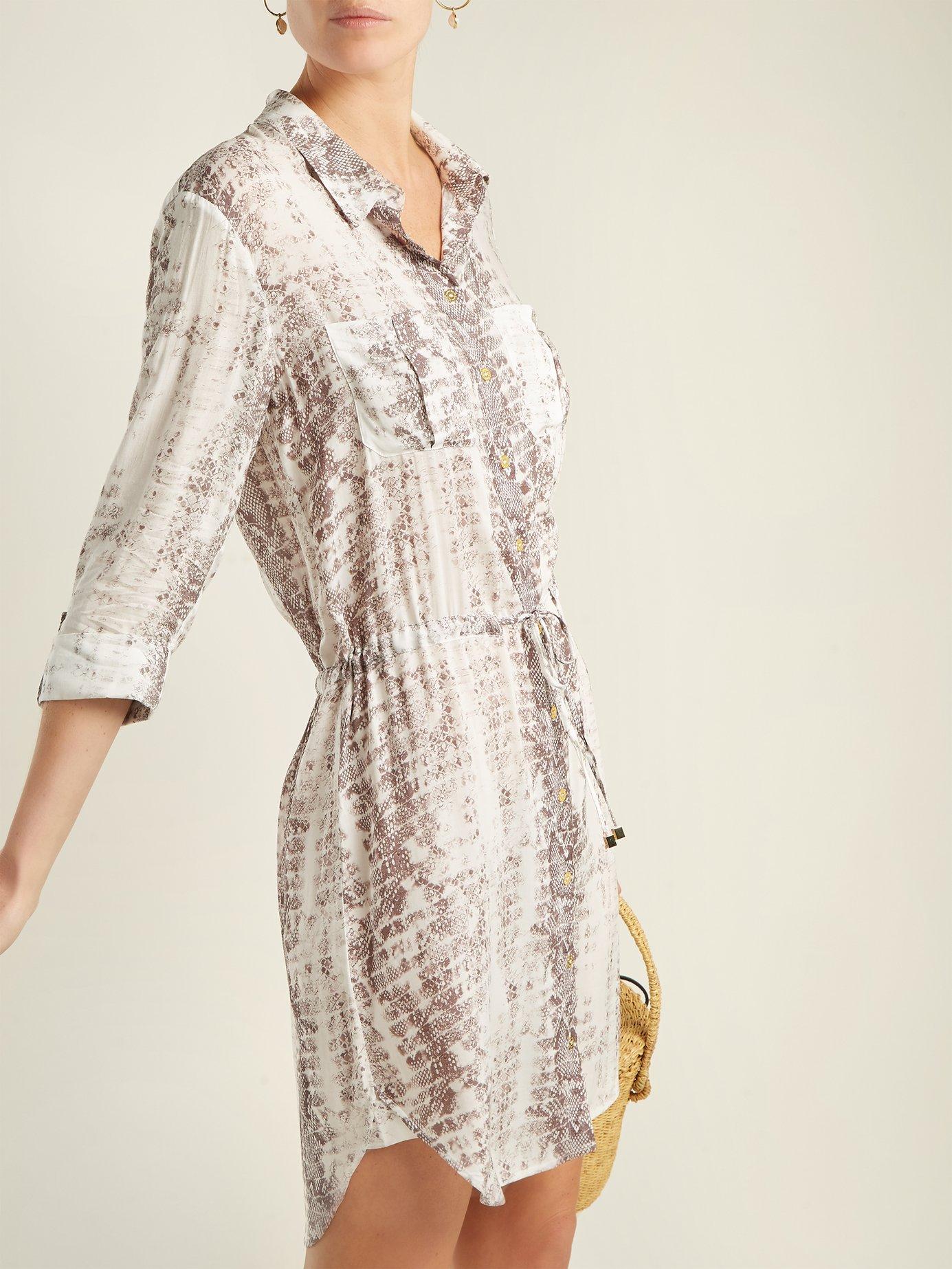 Saint Barths printed poplin shirt dress by Heidi Klein