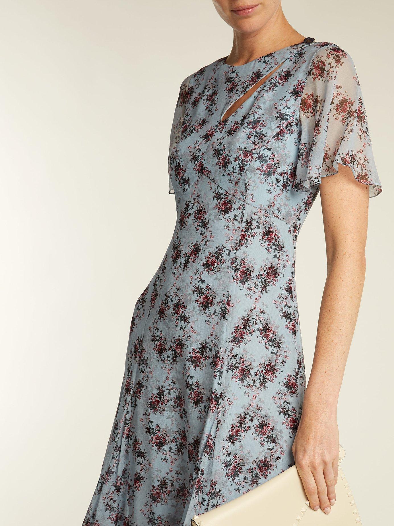 Kathryn Keiko Diamond-print silk dress by Erdem
