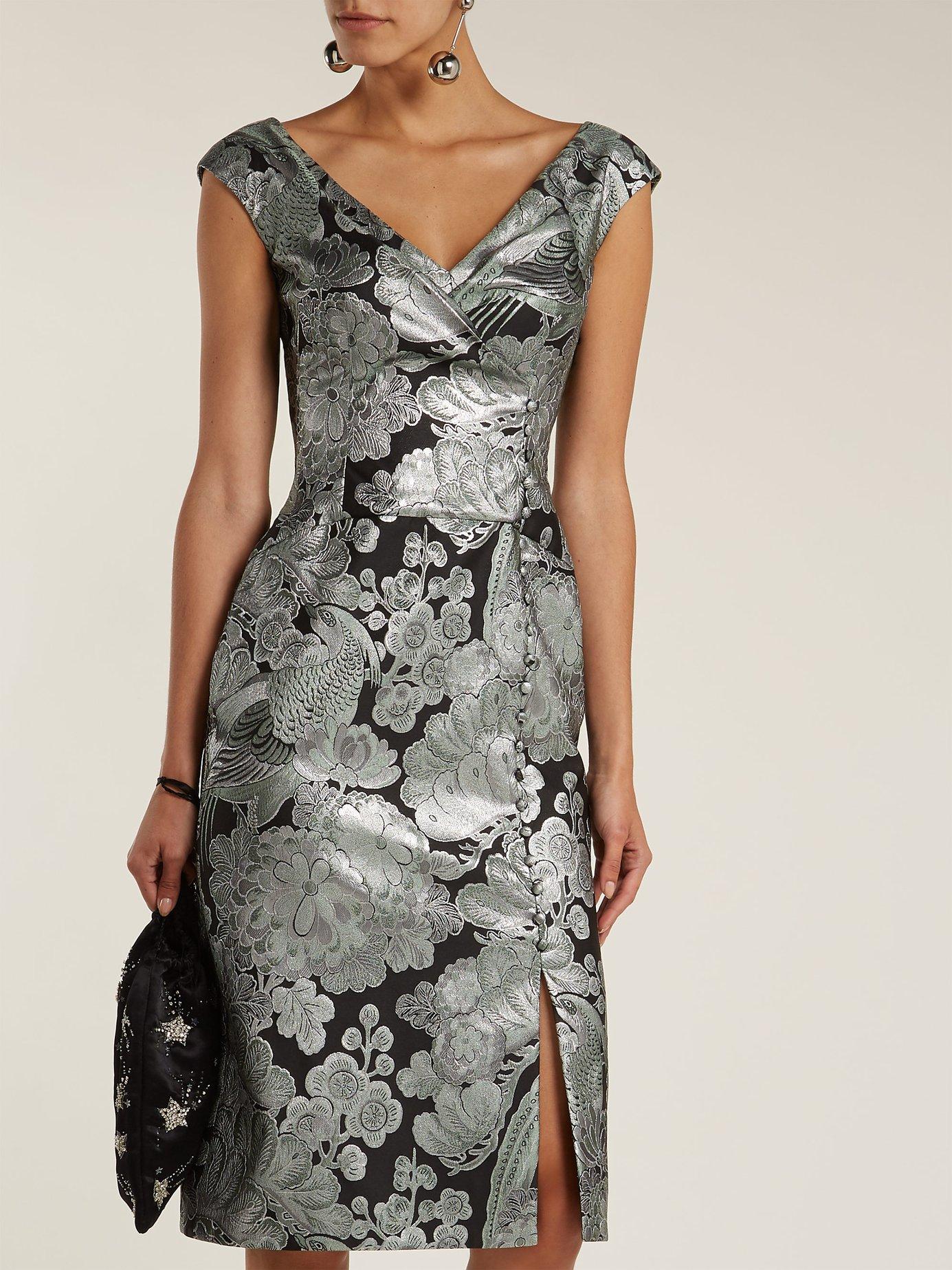 Jyoti floral jacquard midi dress by Erdem
