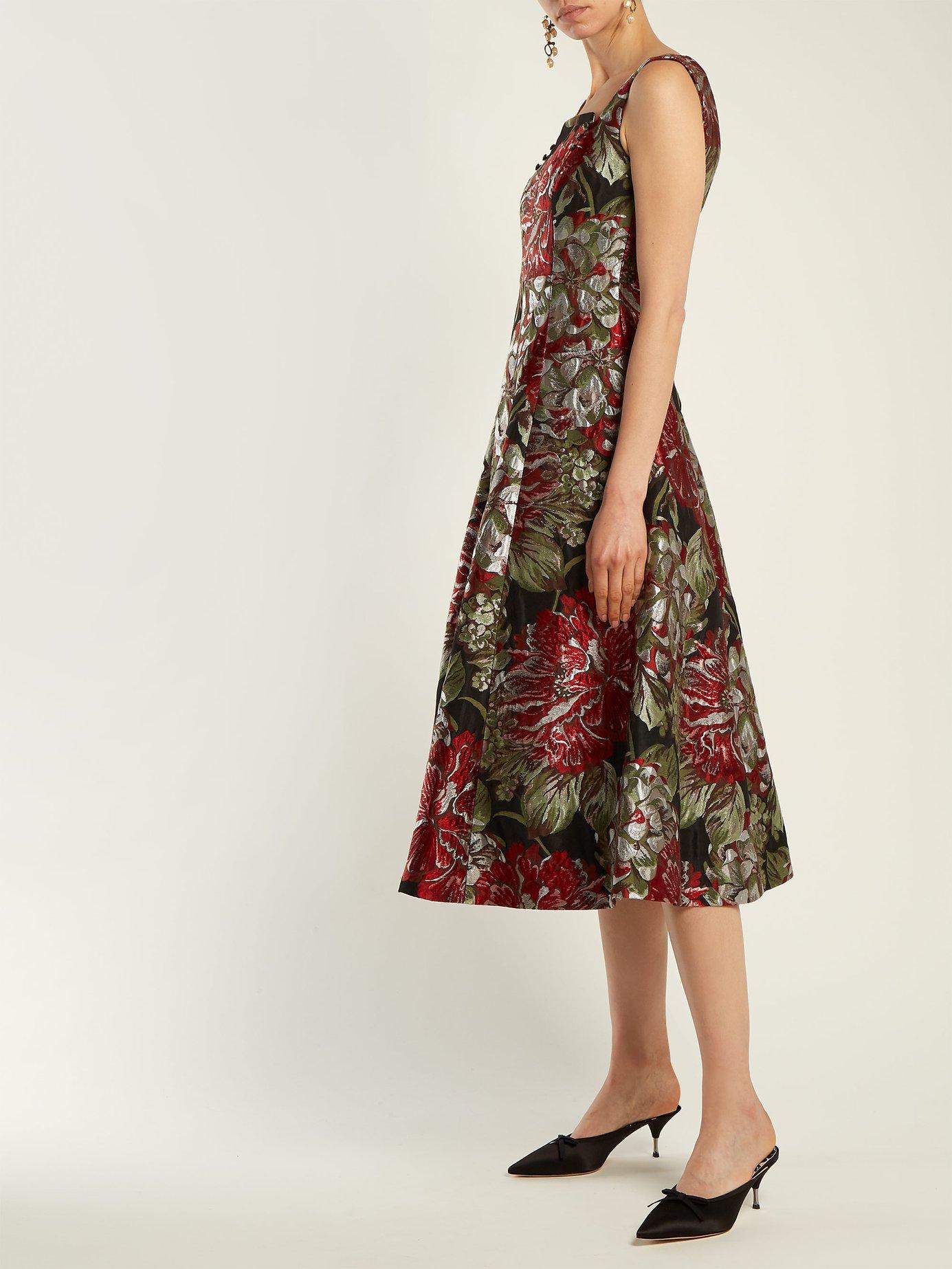 Polly flower-jacquard dress by Erdem