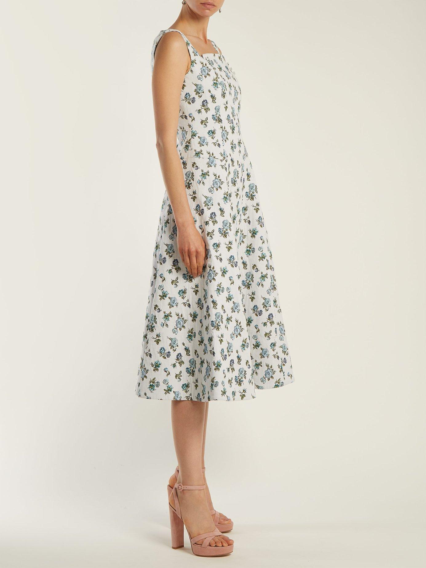 Polly floral-jacquard dress by Erdem