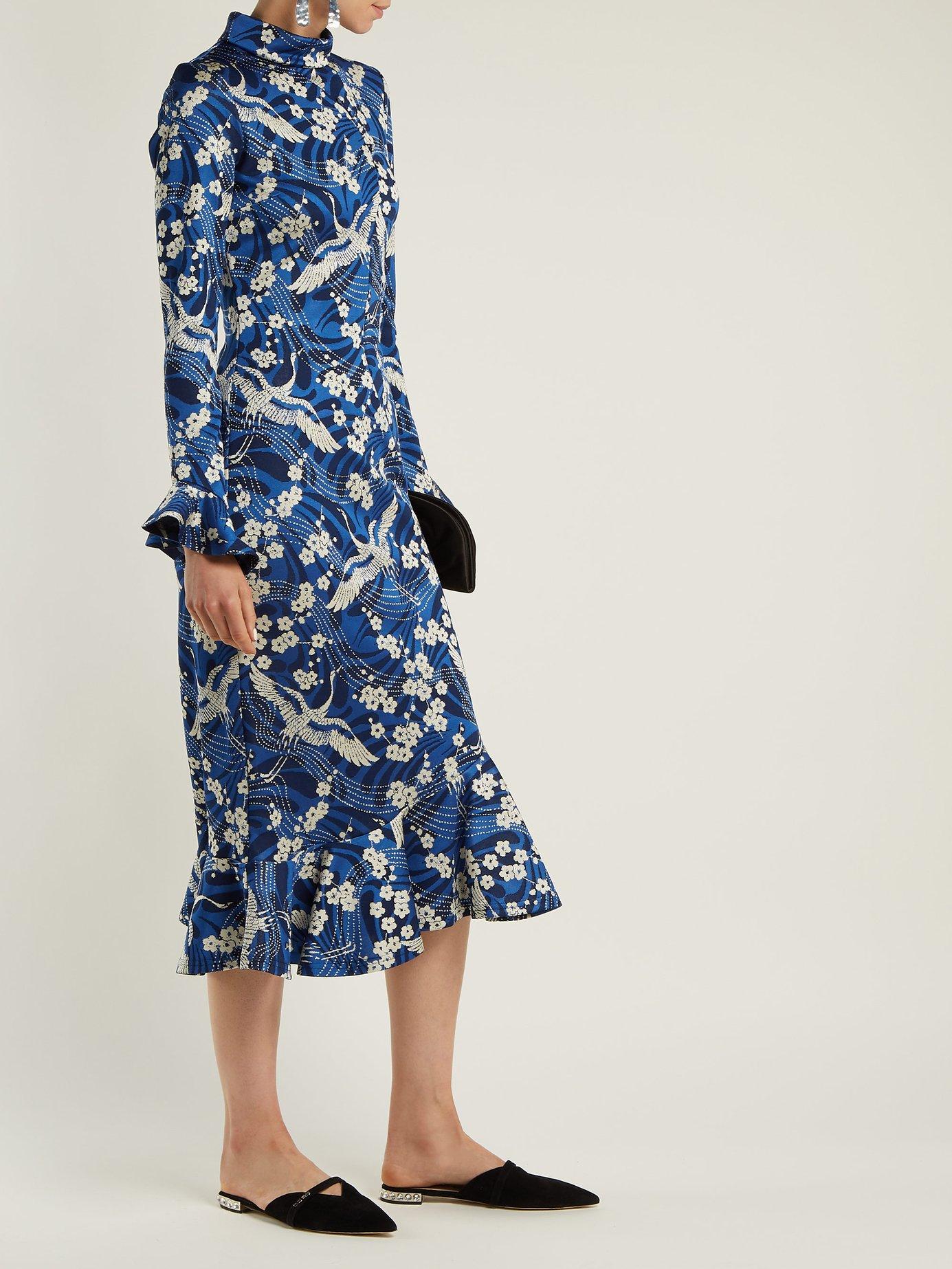Alta Japanese floral-print jersey dress by Erdem