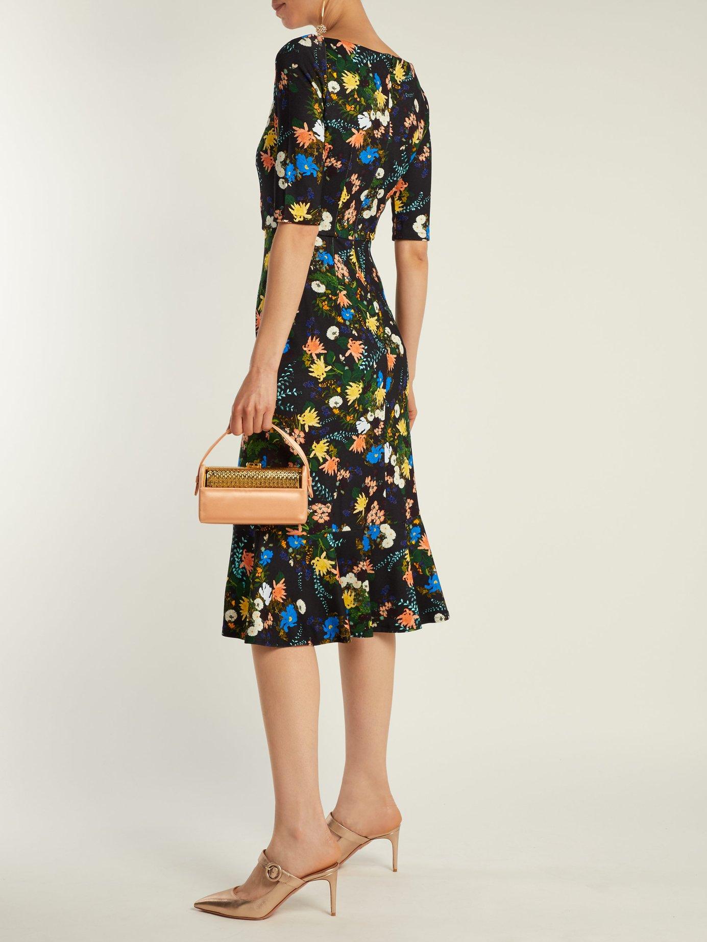 Glenys floral-print jersey midi dress by Erdem