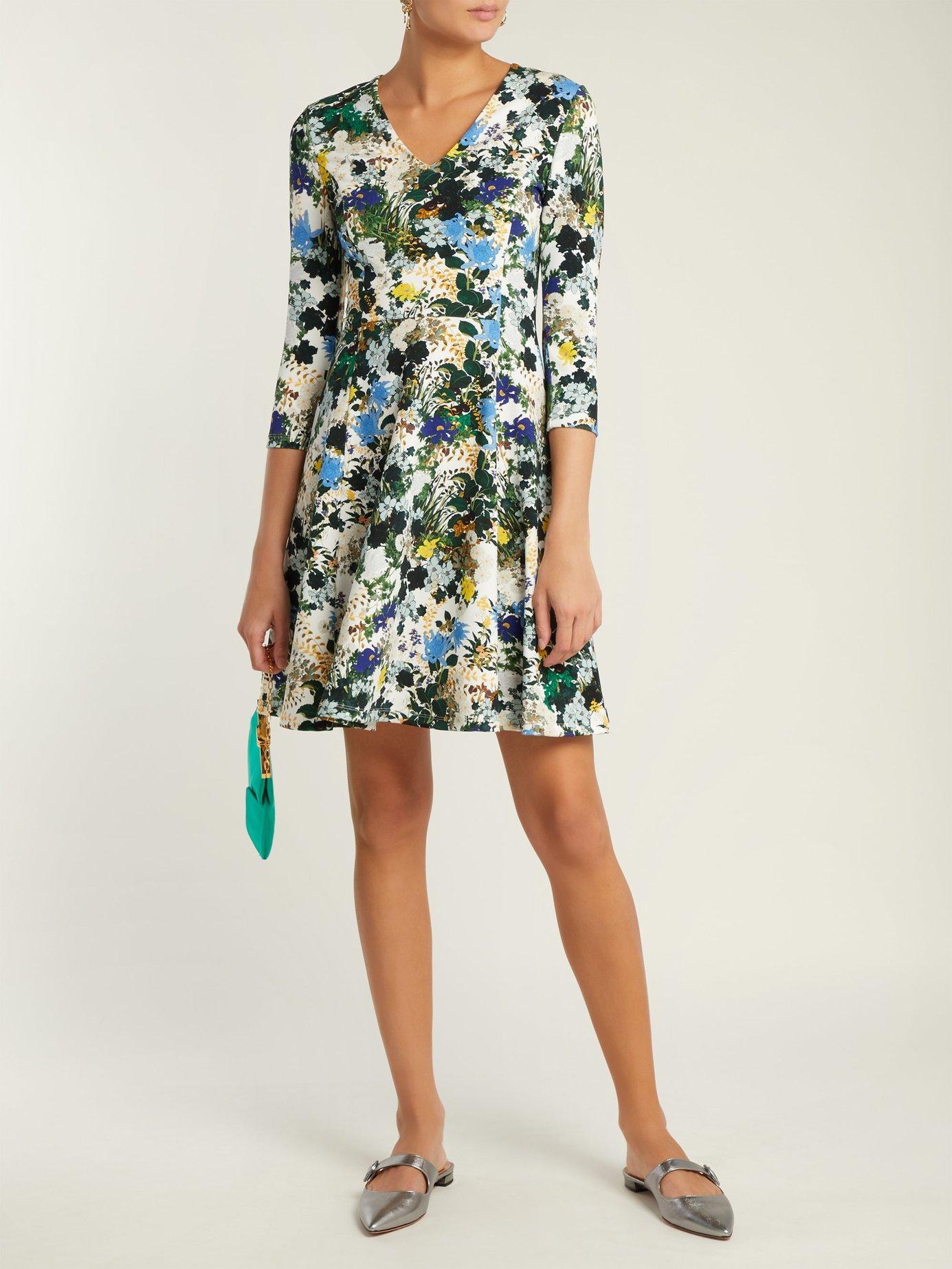 Domitilla Mariko Meadow-print dress by Erdem