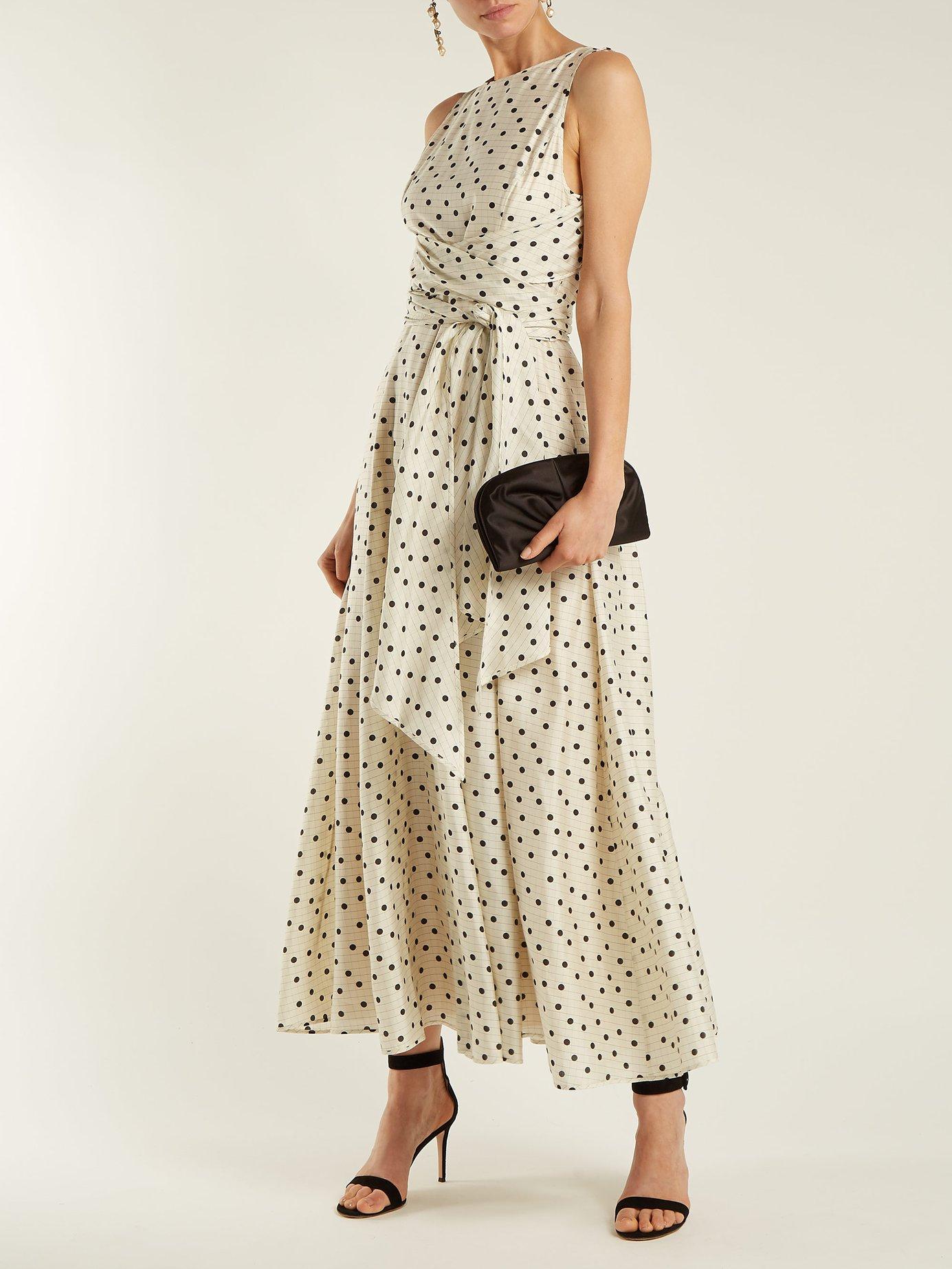Polka-dot silk dress by Diane Von Furstenberg