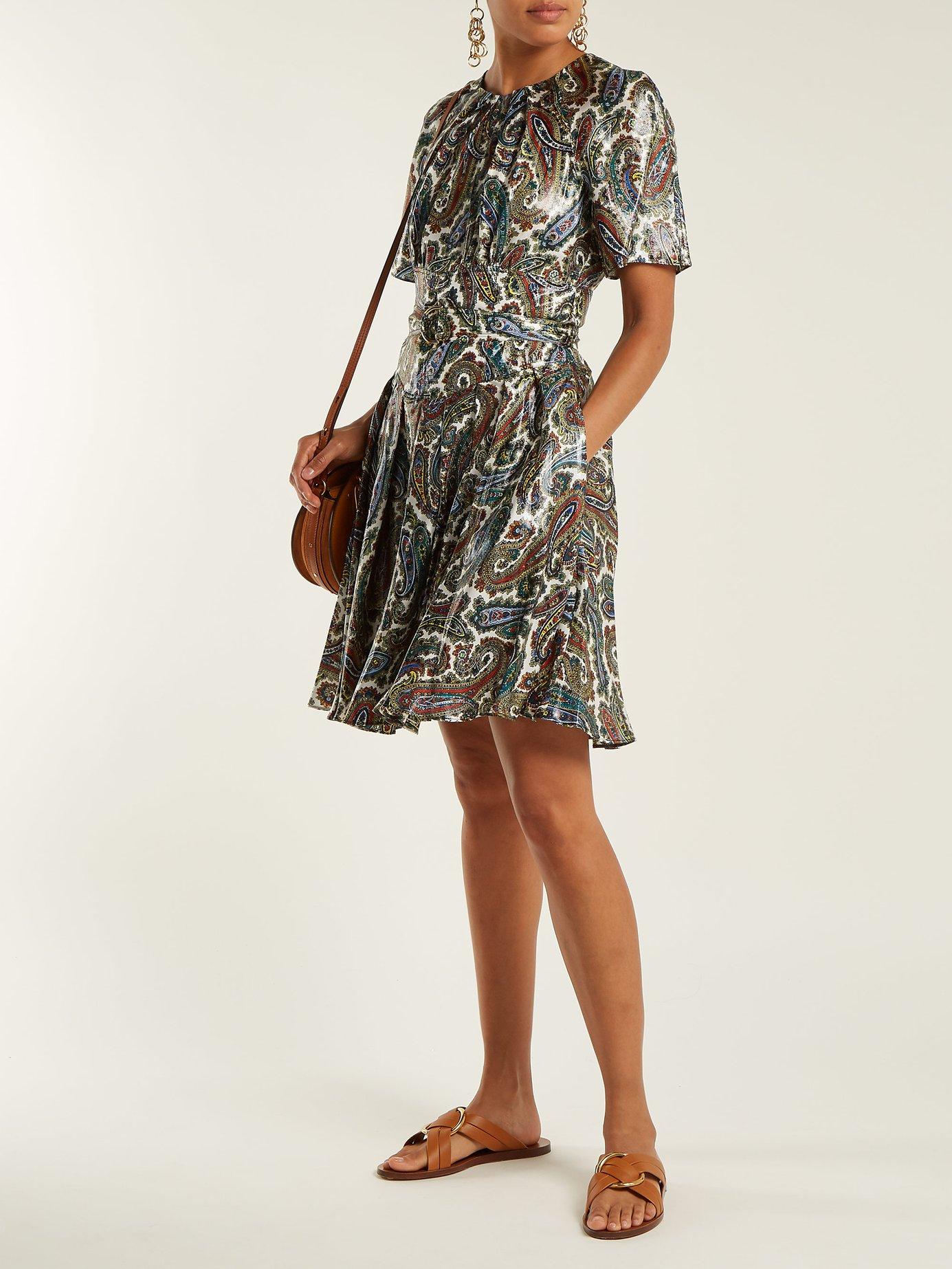 Ana paisley-print silk-blend dress by Diane Von Furstenberg