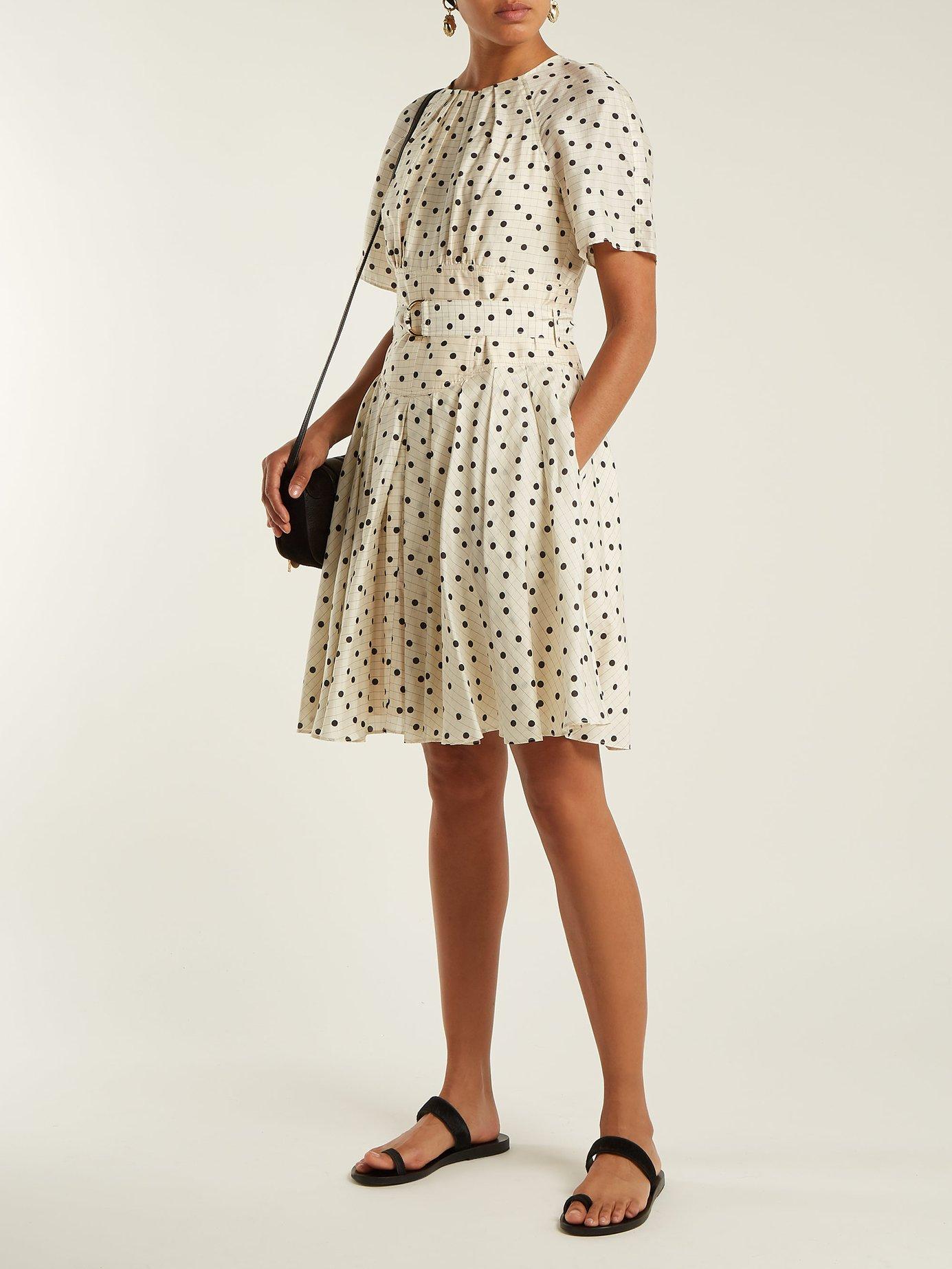 Ana polka dot-print silk dress by Diane Von Furstenberg