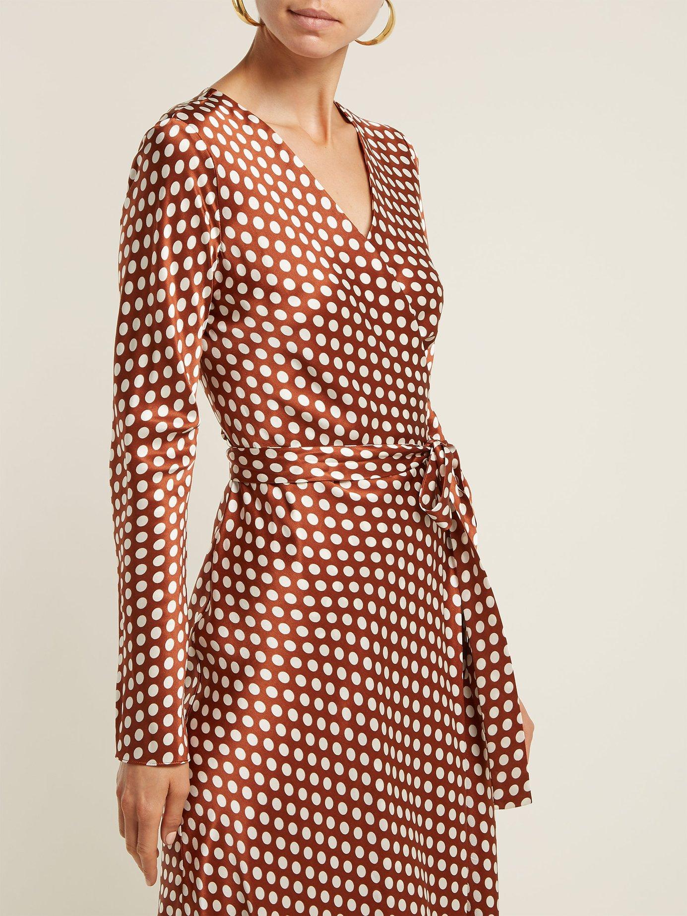 Baker polka-dot wrap-around silk dress by Diane Von Furstenberg