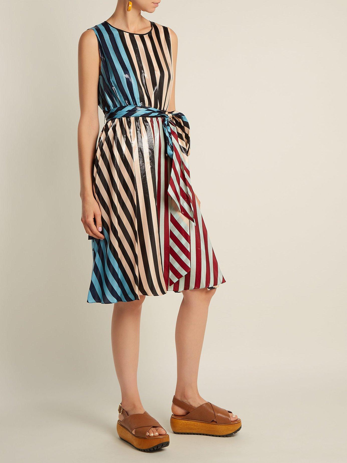 Carrington Stripe silk-blend dress by Diane Von Furstenberg