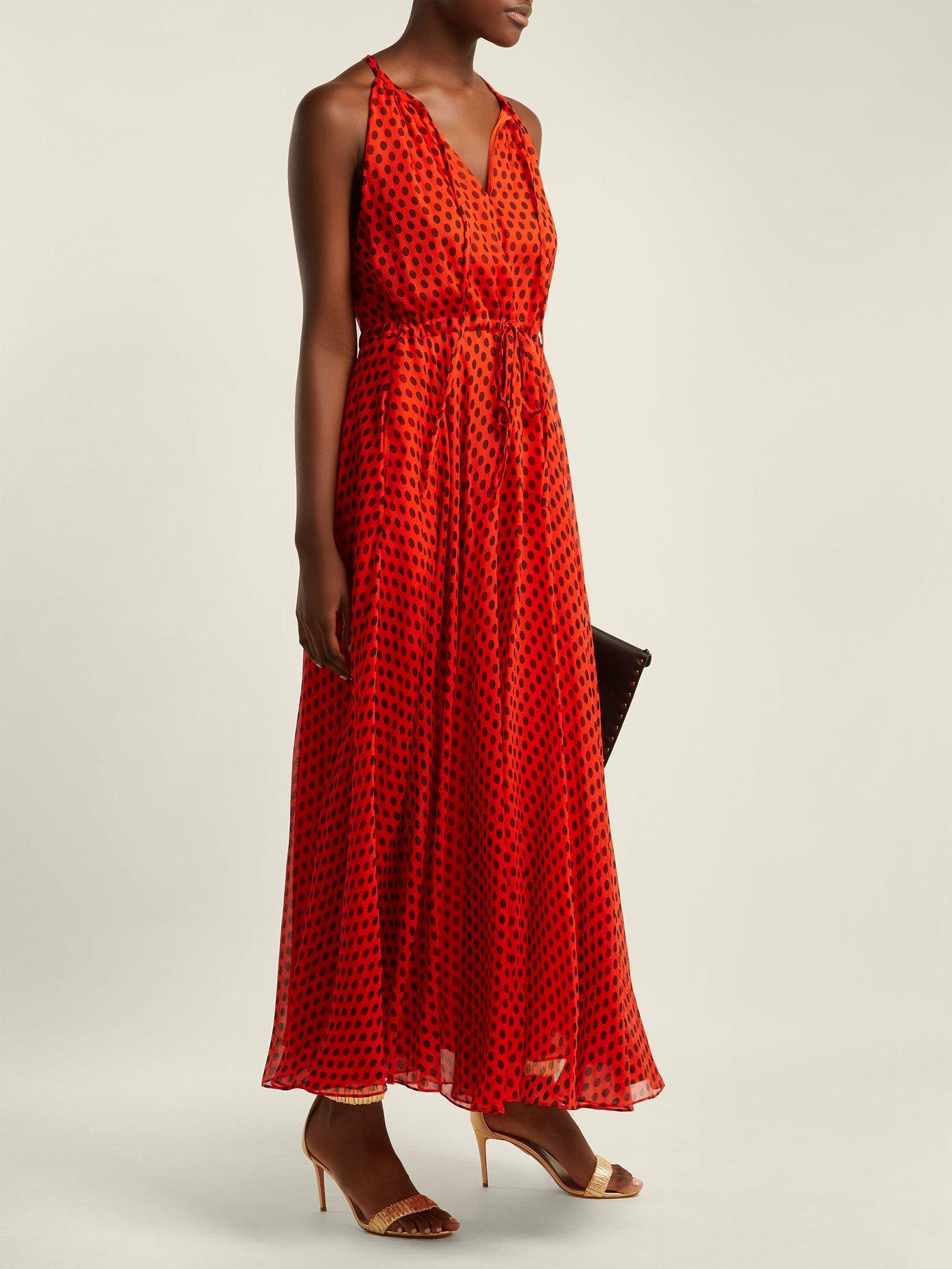 Baker polka-dot silk-crepe dress by Diane Von Furstenberg