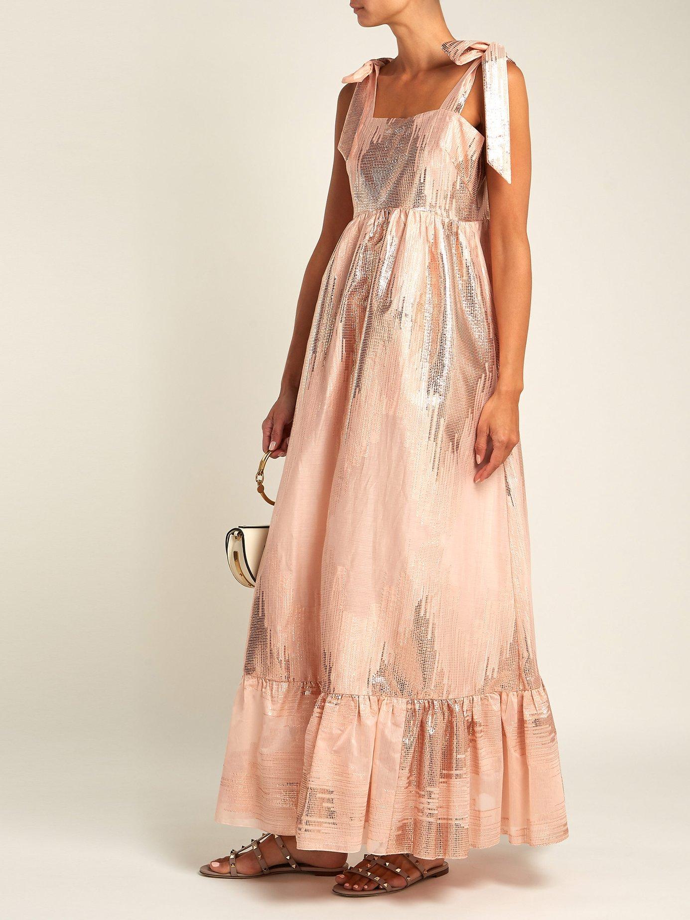 Gold Dust metallic-weave dress by Athena Procopiou