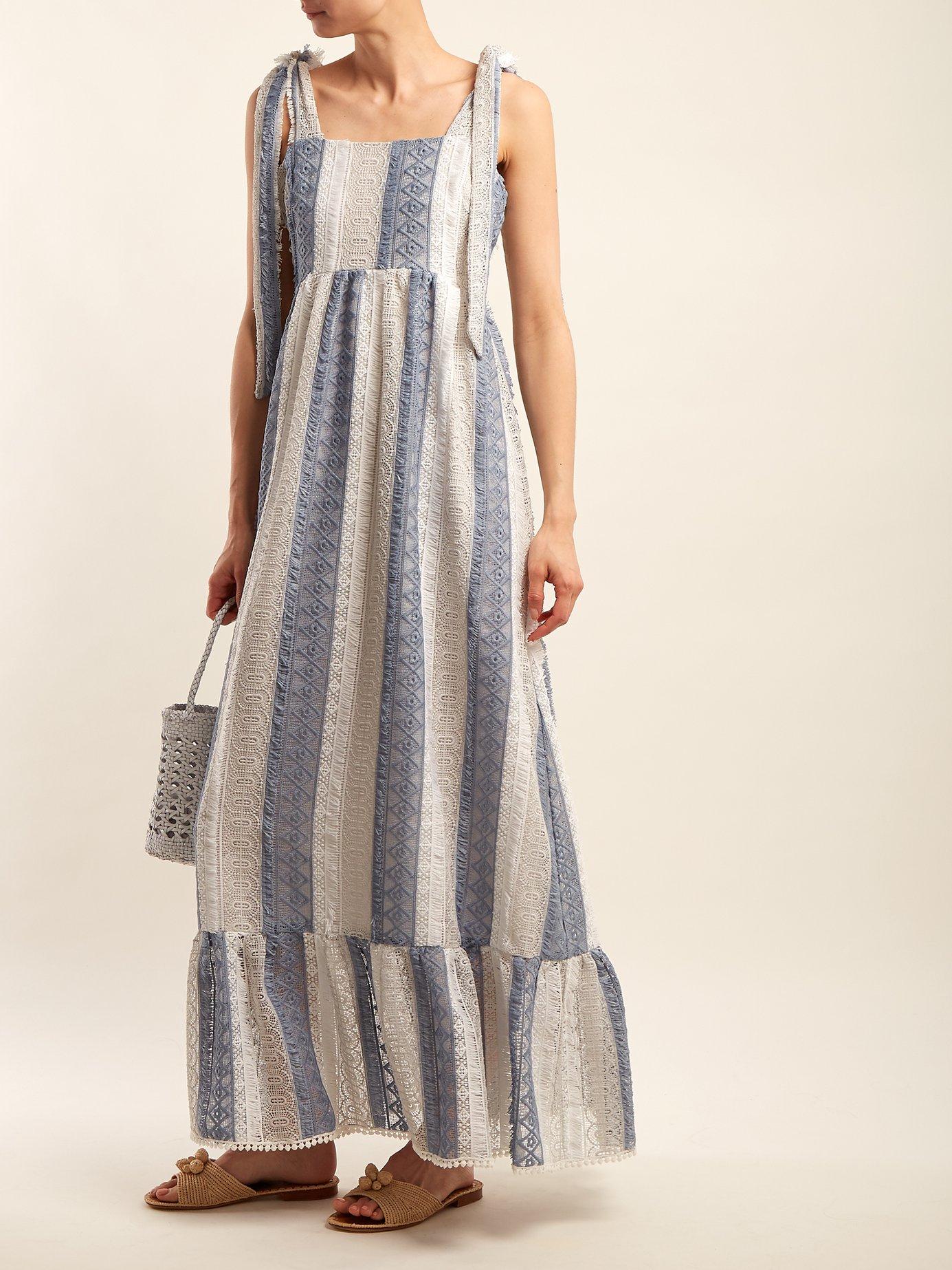Tie-shoulder lace dress by Athena Procopiou