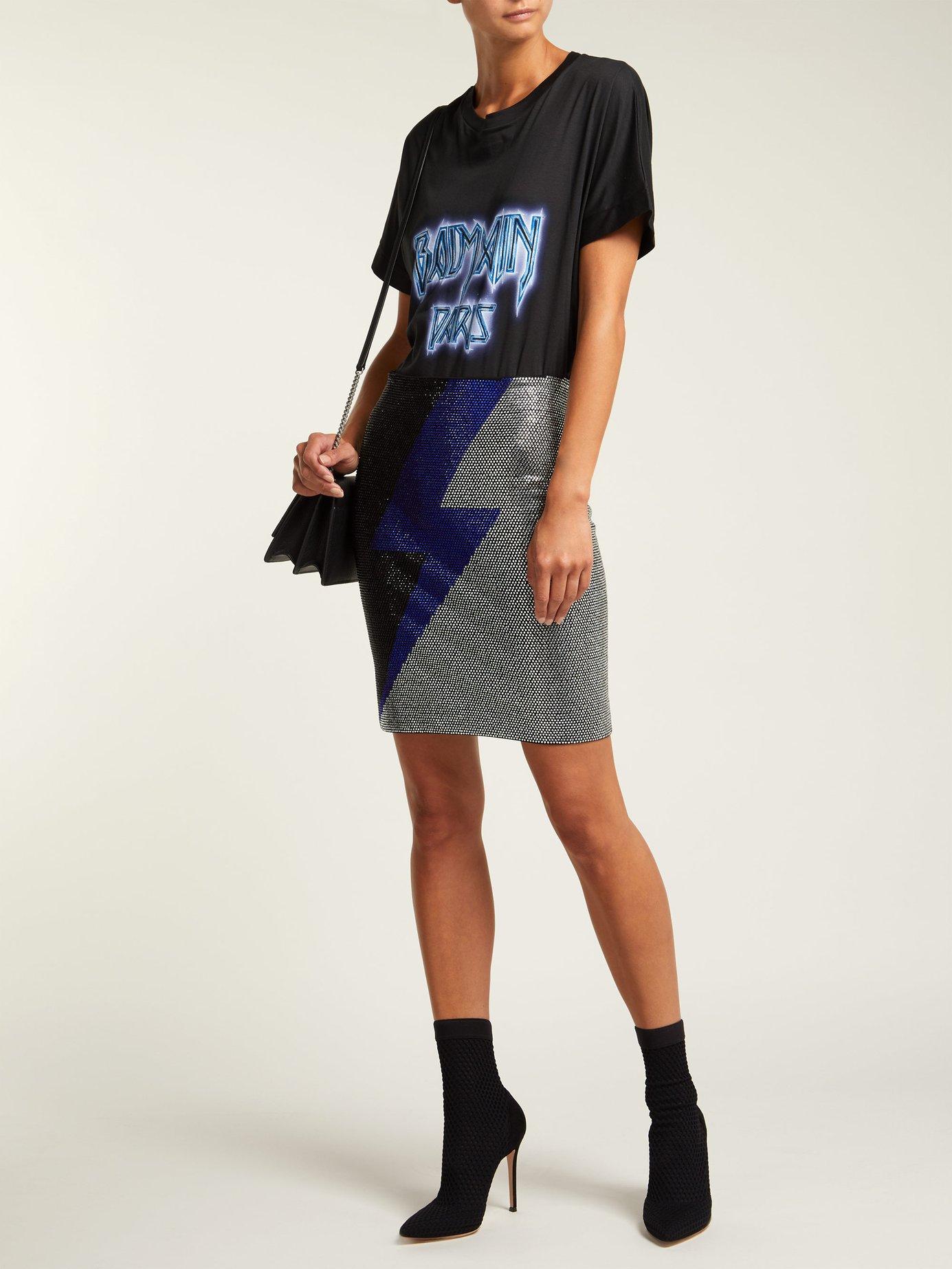 Oversized logo print cotton T-shirt by Balmain