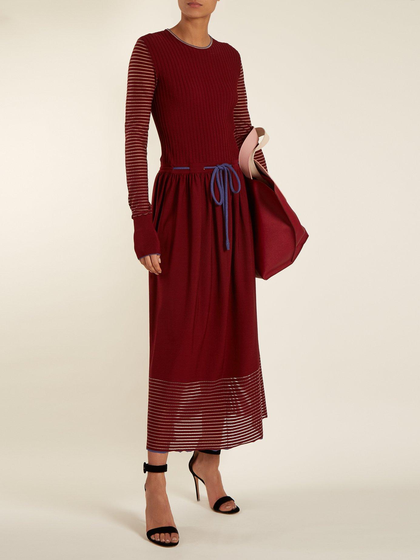 Arago drawstring-detailed dress by Roksanda
