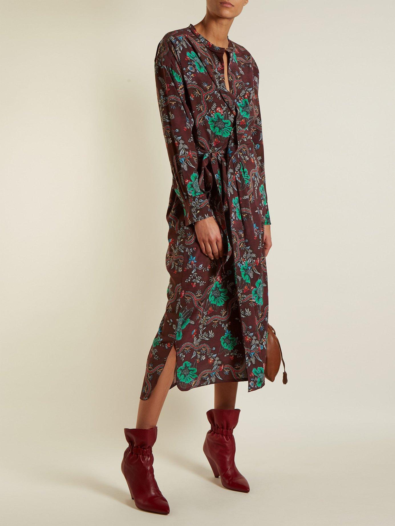 Calypso silk wrap dress by Isabel Marant