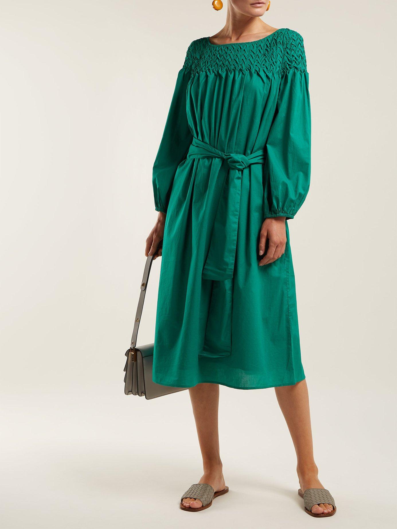 Bonaire belted cotton dress by Merlette