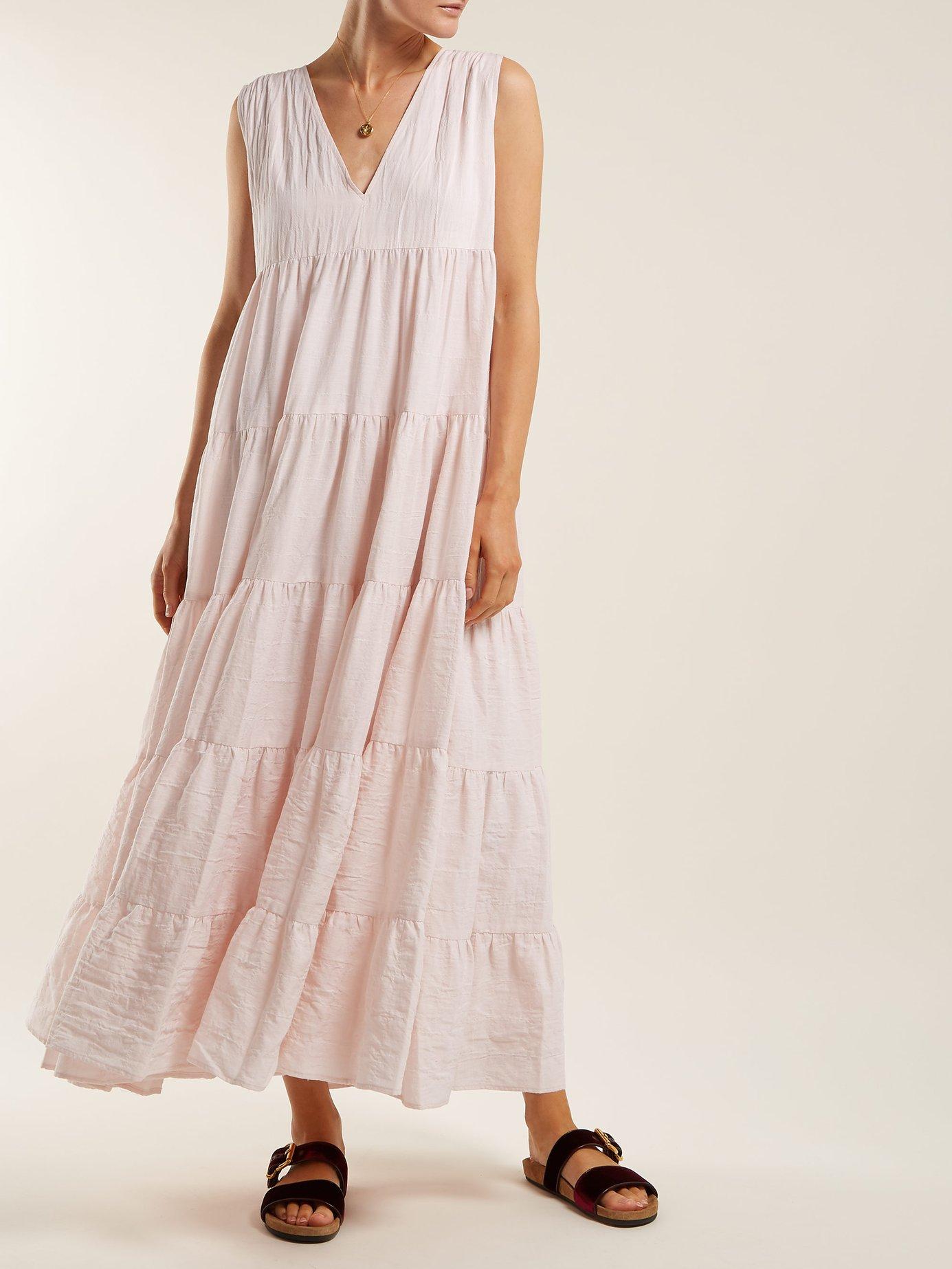 Kelmtu tiered cotton-blend dress by Merlette