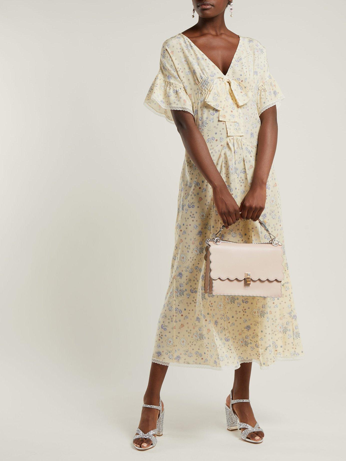 Floral-print silk crepe de Chine dress by Alessandra Rich