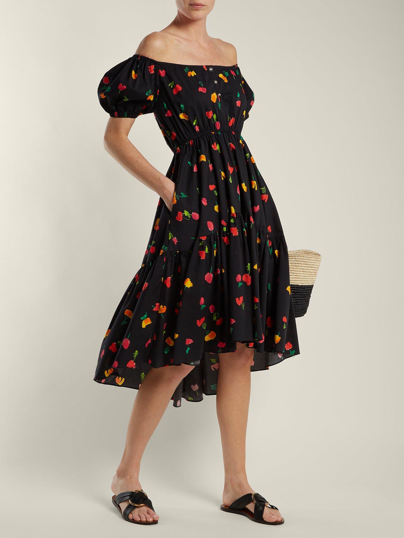 Bardot floral-print cotton-blend dress by Caroline Constas