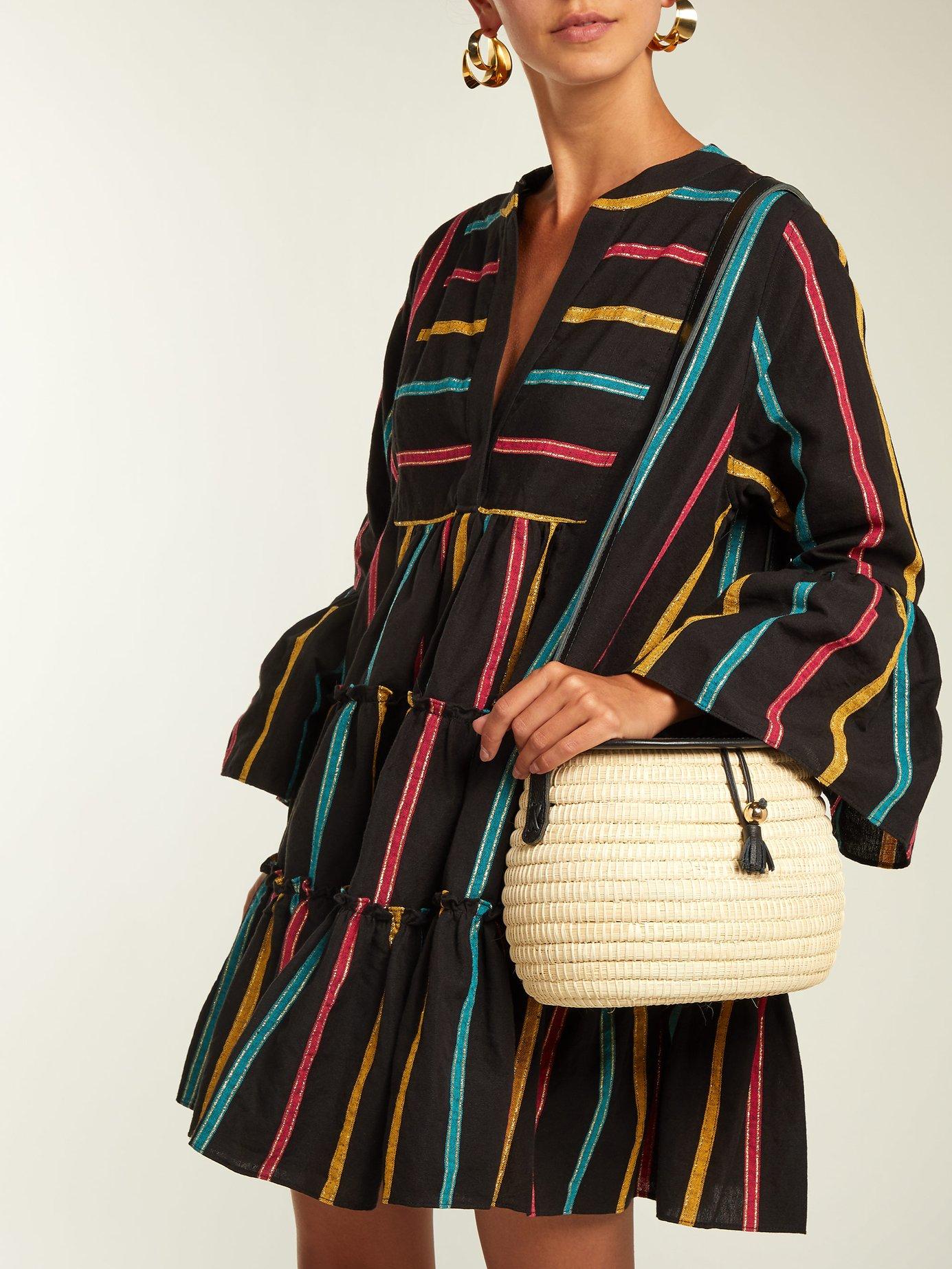 Lyssa striped cotton-blend dress by Caroline Constas