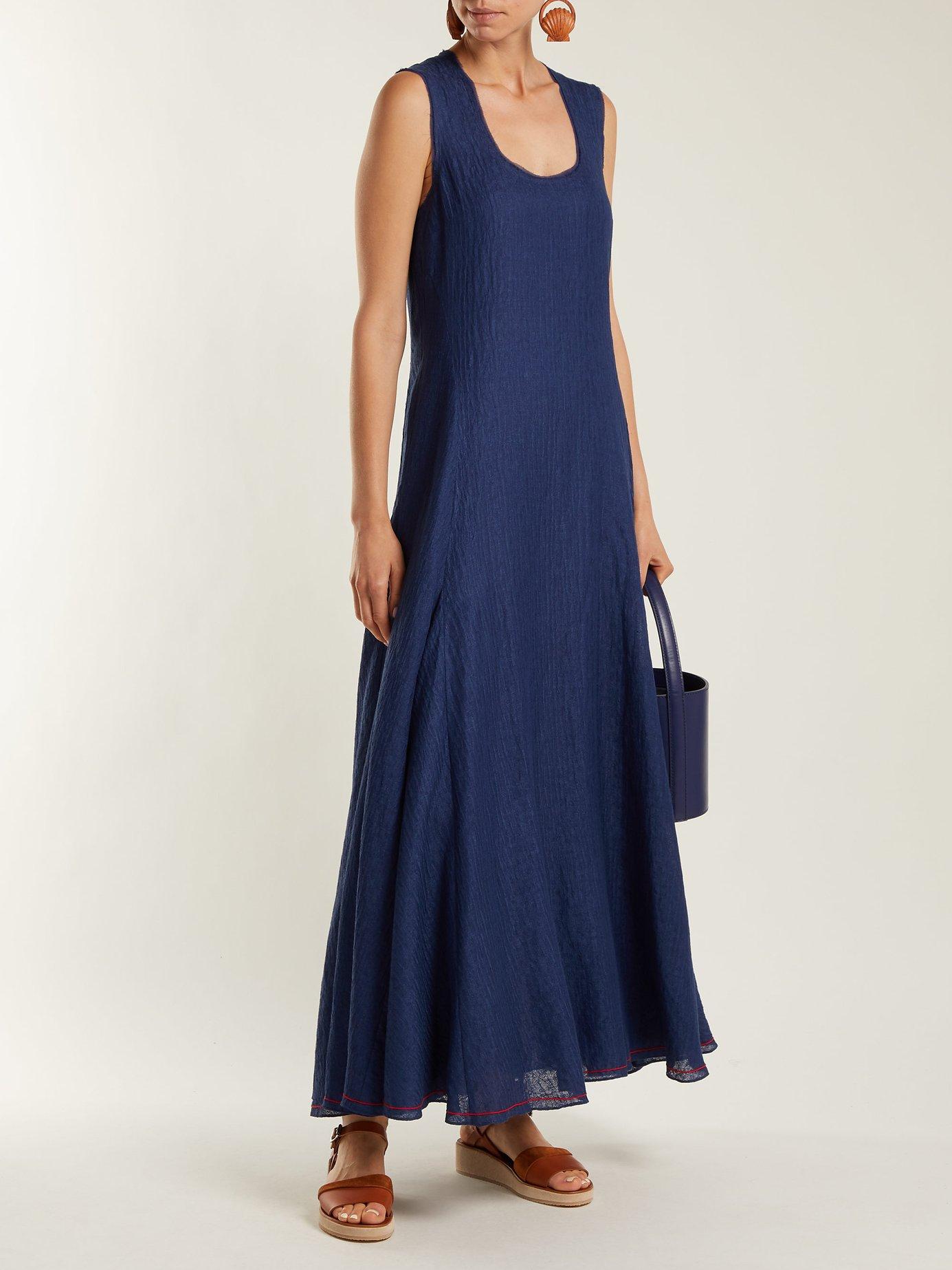 Lenox sleeveless linen-blend dress by Elizabeth And James