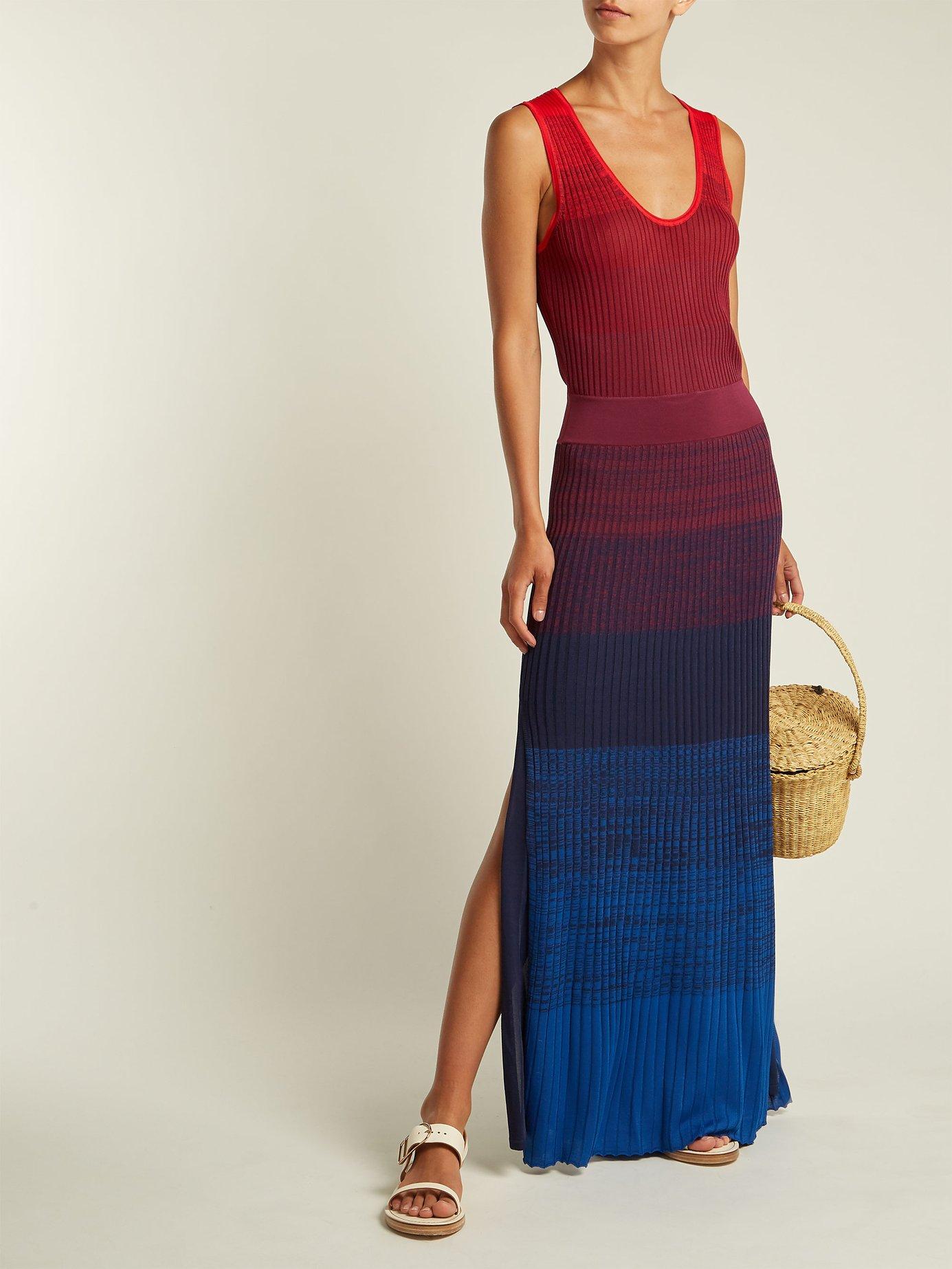 Winona ribbed-knit maxi dress by Elizabeth And James