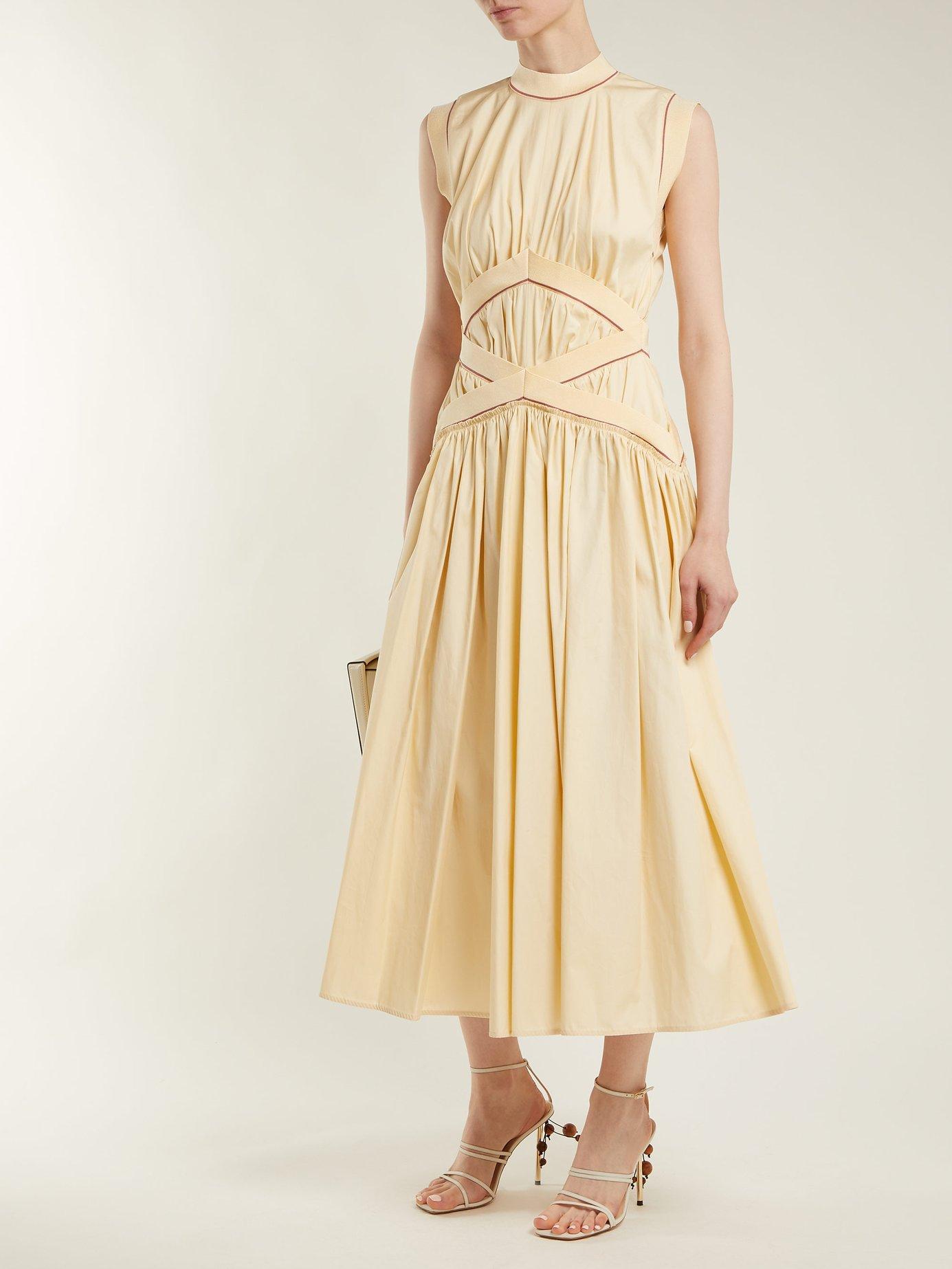 Braelyn sleeveless cotton-poplin dress by Roksanda