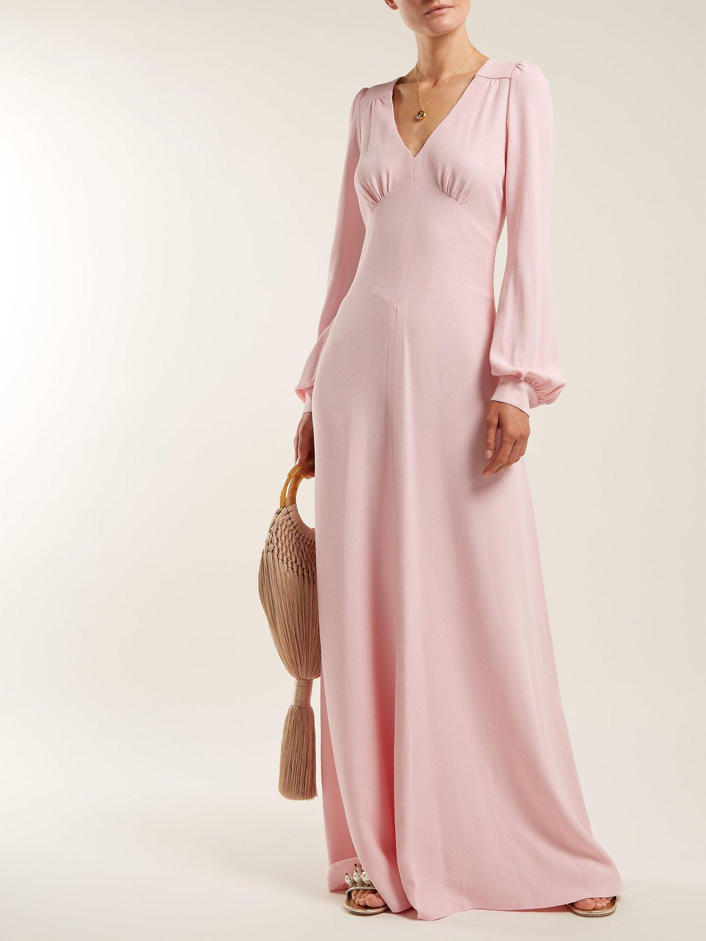 Nova crepe puff-shoulder dress by Bella Freud