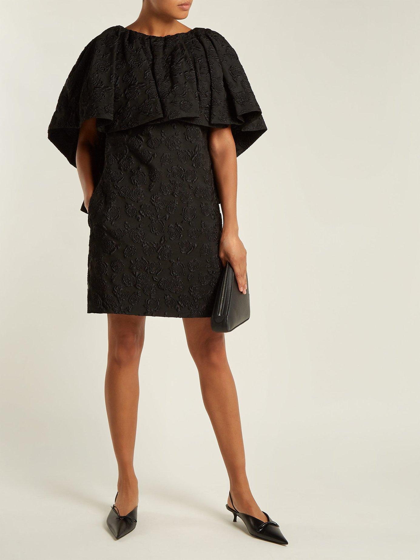 Floral-jacquard silk dress by Calvin Klein 205W39Nyc