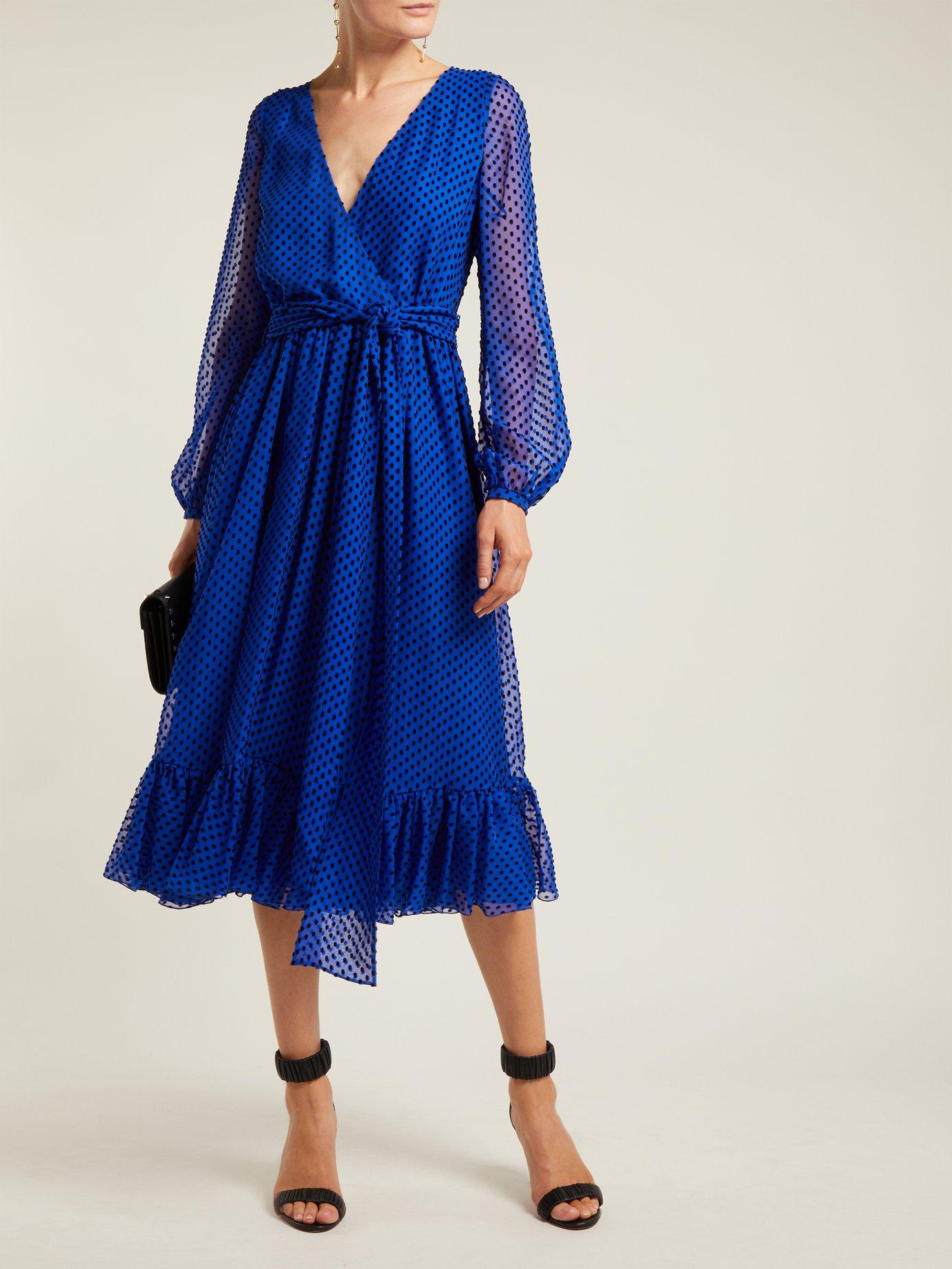 Polka-dot silk-blend dress by Valentino